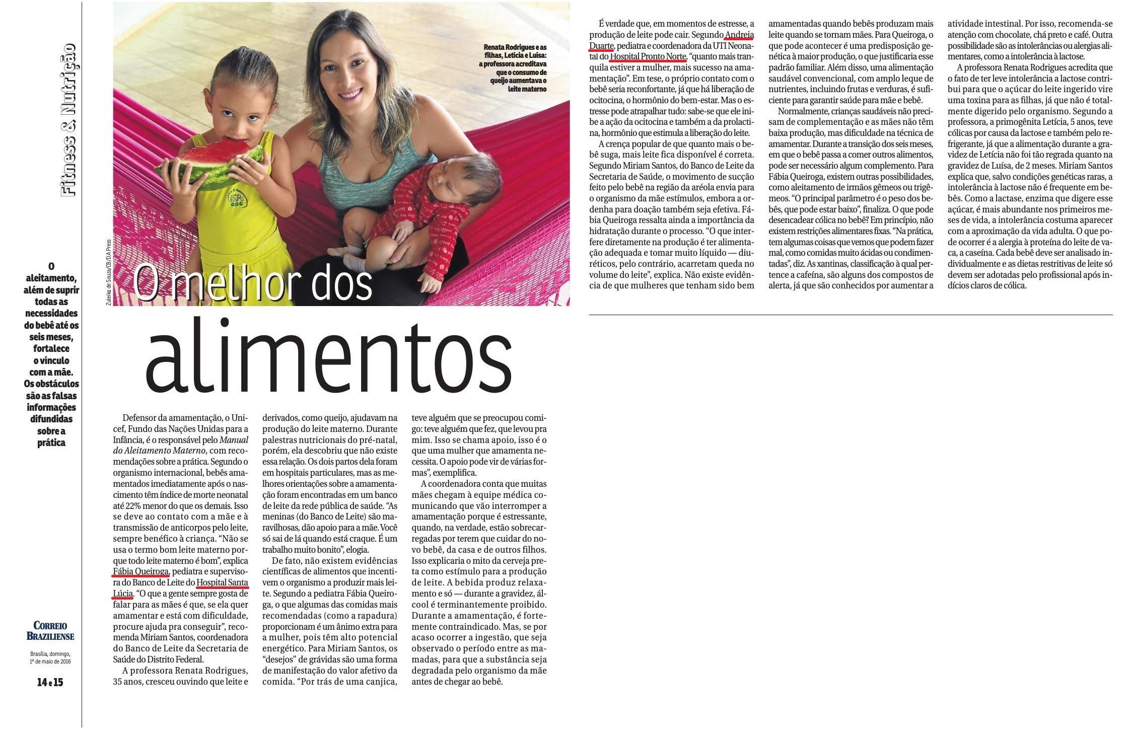 Revista do Correio - O melhor dos alimentos - 01-05-16 [1]