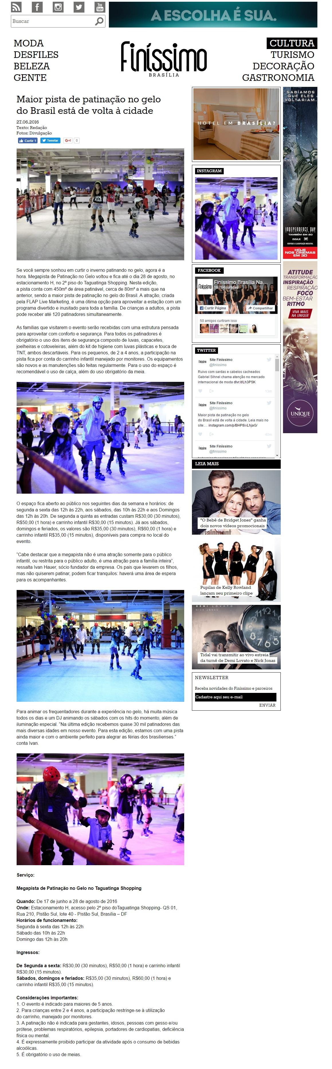 Maior pista de patinação no gelo do Brasil está de volta à cidade   Finíssimo   Brasília na Moda