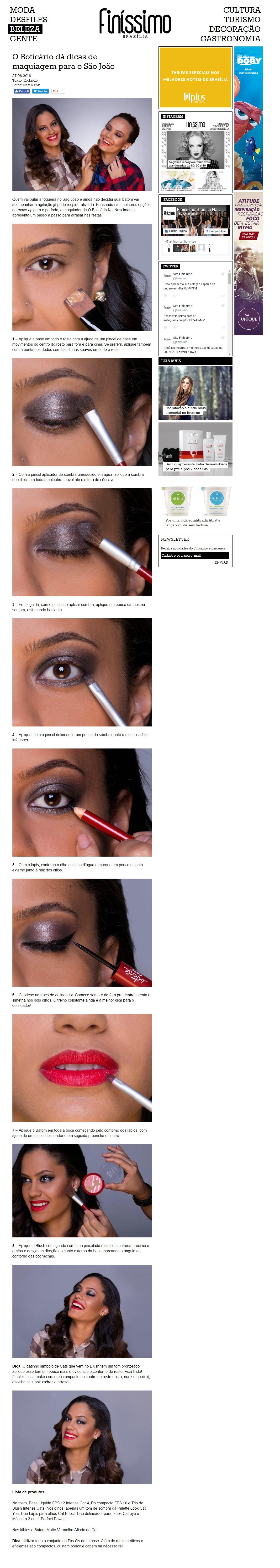 O Boticário dá dicas de maquiagem para o São João