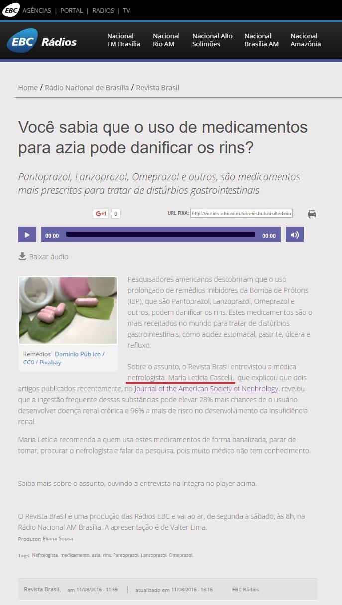 Agência Rádios EBC - Dra. Maria Letícia - 12-08-2016