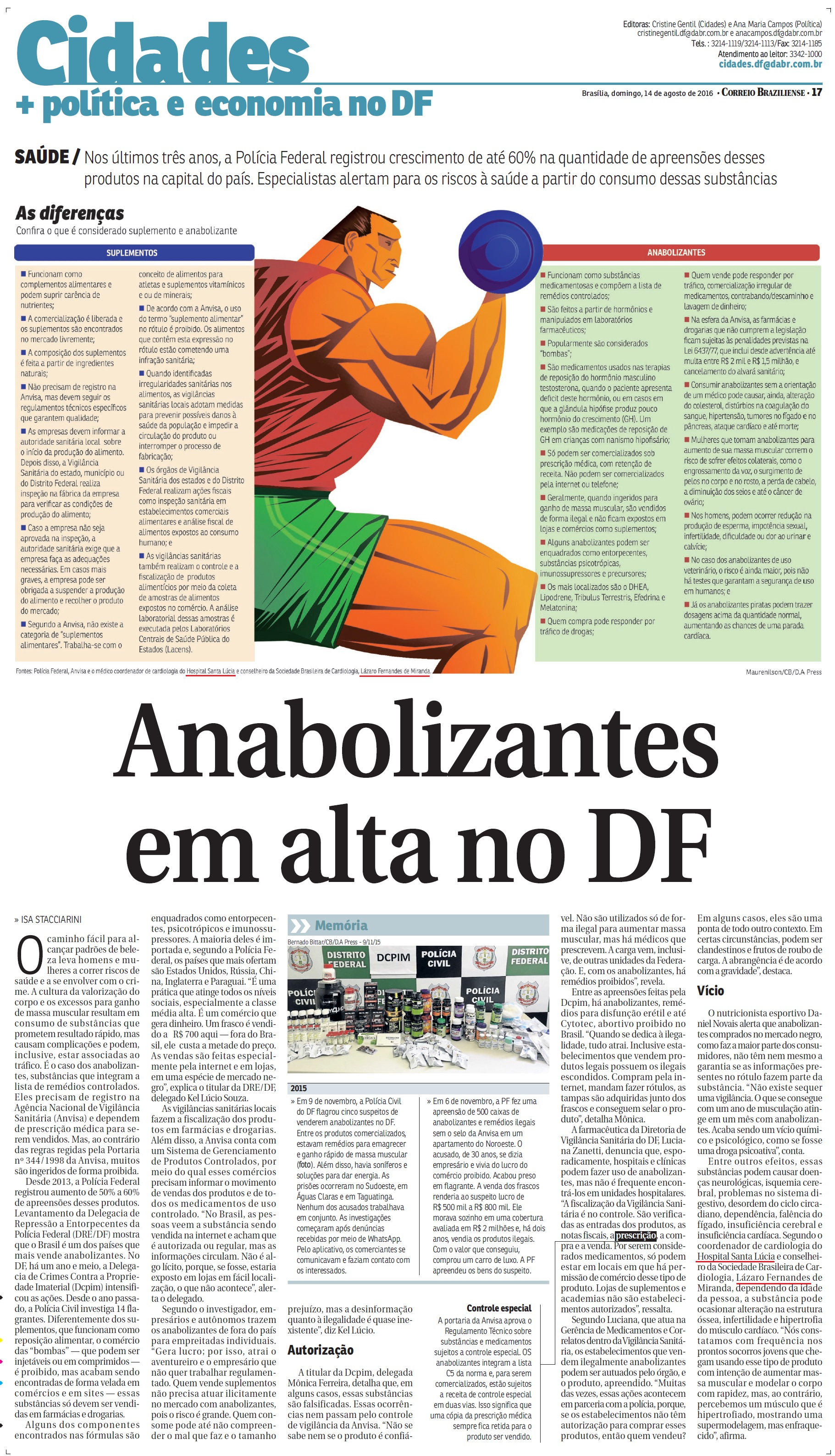Correio Braziliense - Dr. Lázaro Miranda HSL - 14-08-2016