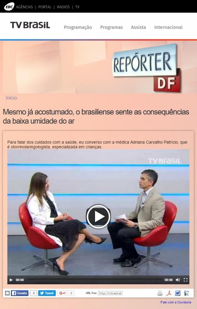 TV Brasil - Baixa Umidade do Ar - Dra. Adriana Patrocínio - 02-08-2016