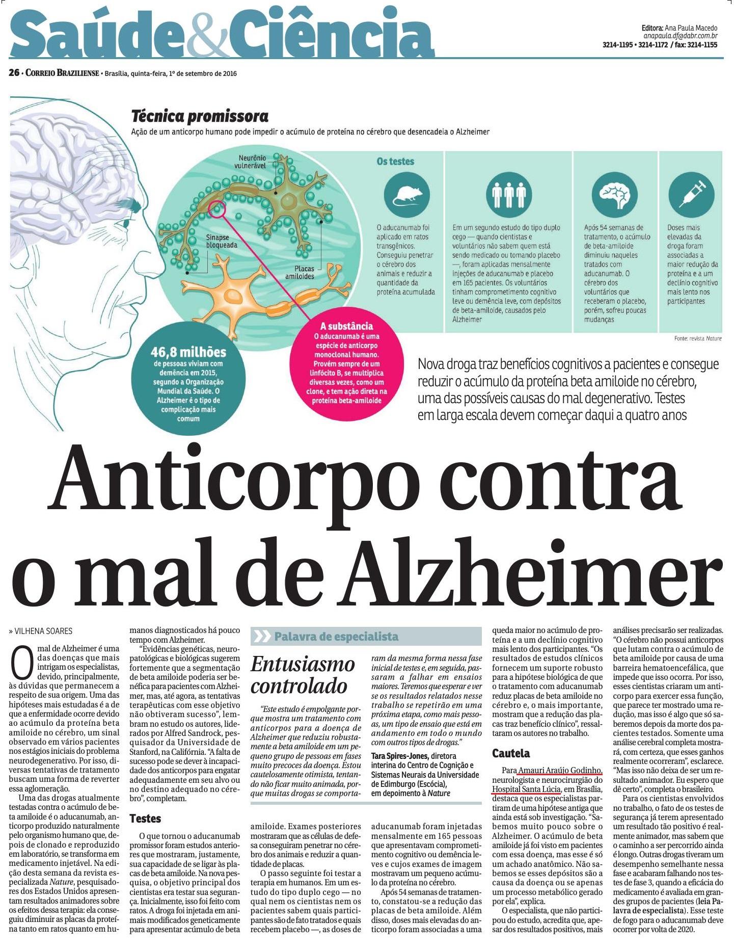 Correio Braziliense - Dr. Amauri Godinho HSL - 01-09-20166