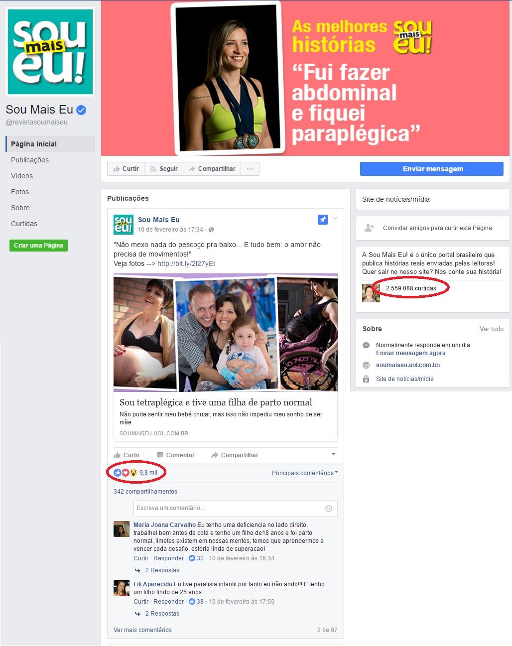 Facebook Revista Sou Mais Eu - Dr. João Serafim Neto HSL - 13-02-2017