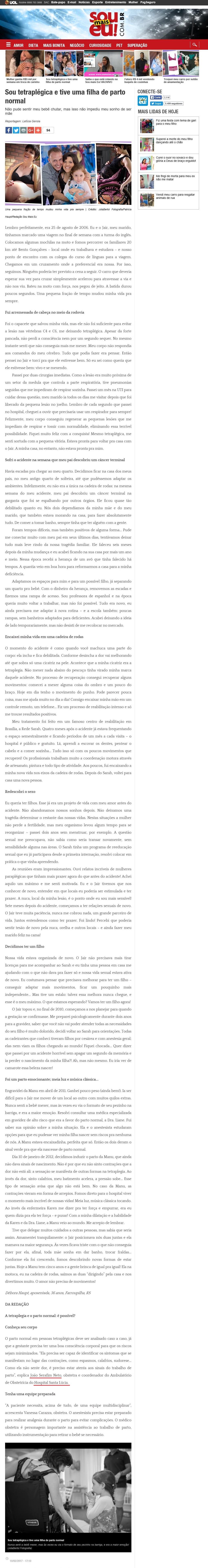 Revista Sou Mais Eu (Ed. CARAS) - Dr. João Serafim HSL - 13-02-2017