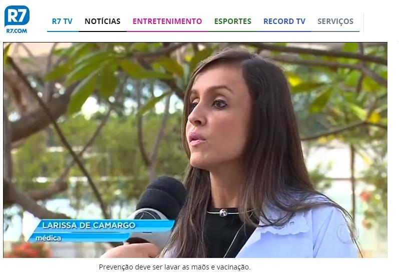 R7 Record - Dra. Larissa Camargo HSL - 28-04-2017