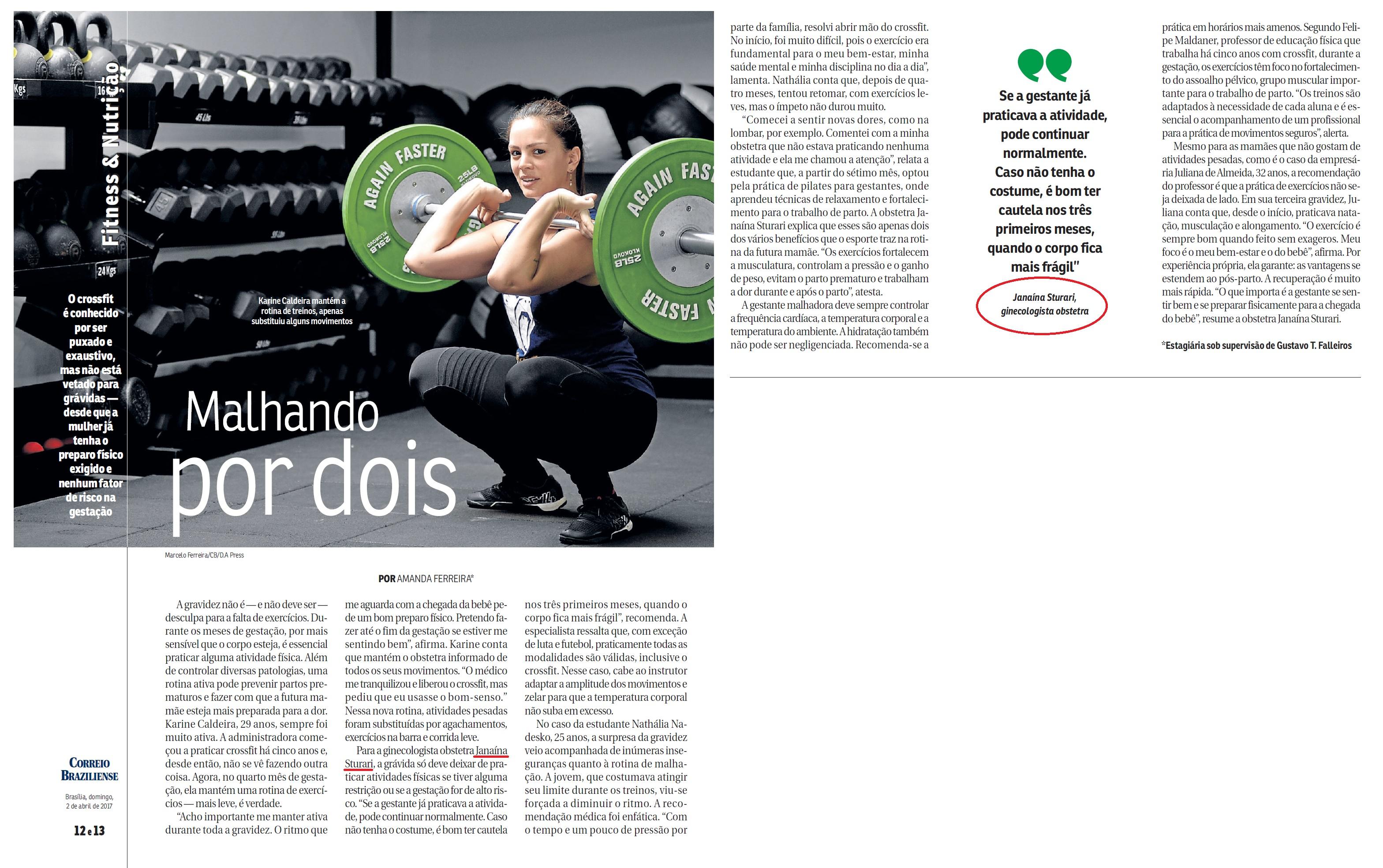 Revista do Correio - Dra. Janaína Sturari HMA - 02-04-2017