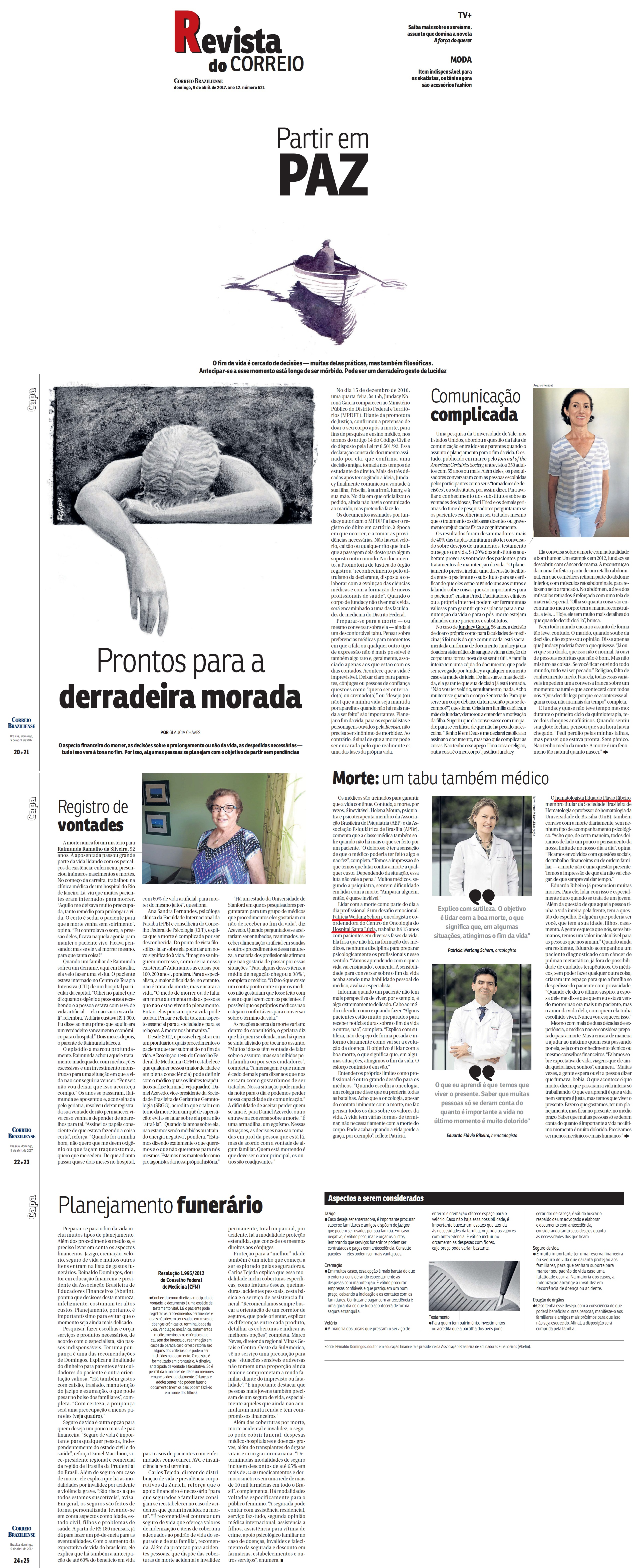 Revista do Correio - Oncologia HSL - 09-04-2017