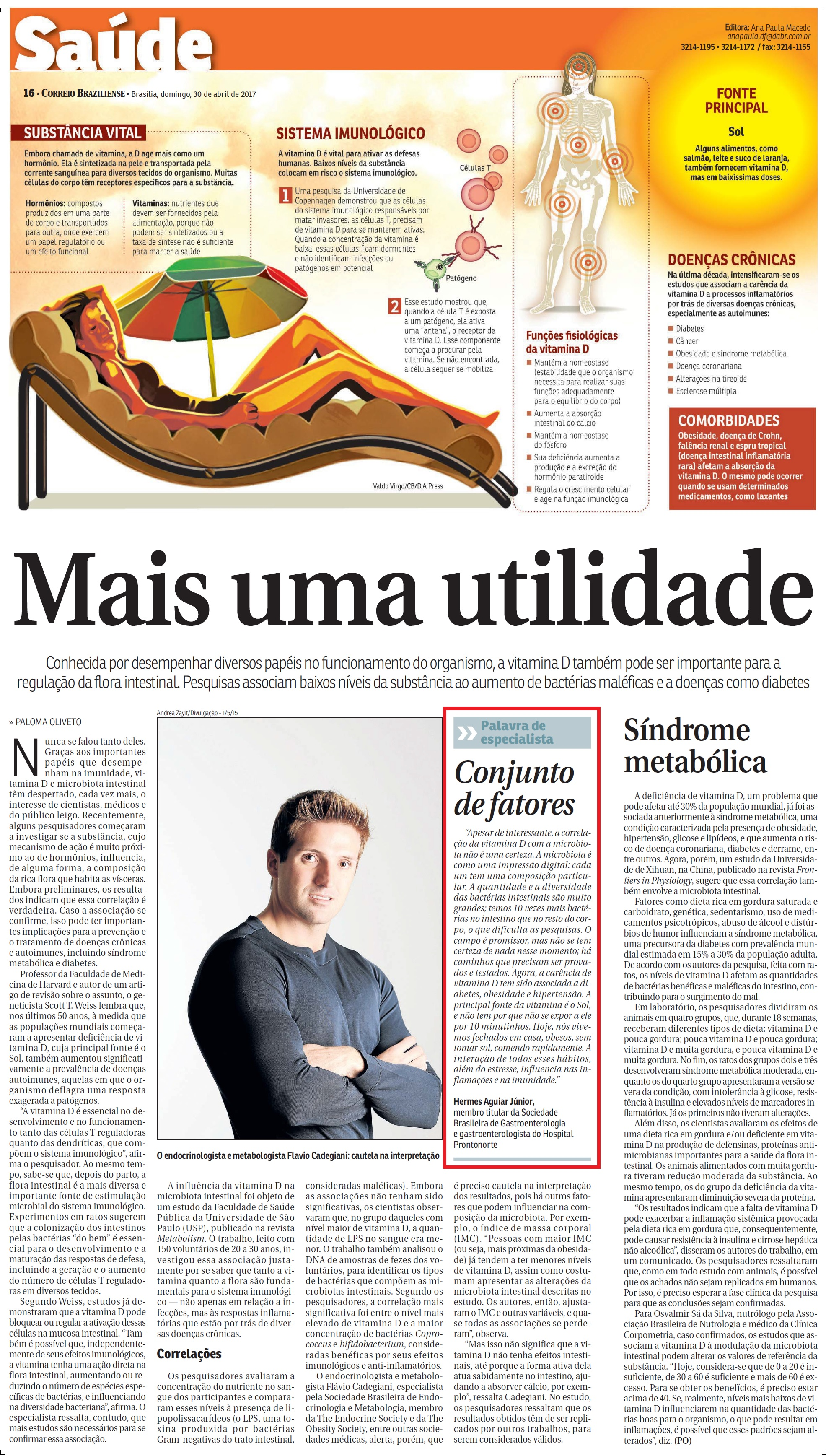 Correio Braziliense - Dr. Hermes Júnior HSLN - 30-04-2017