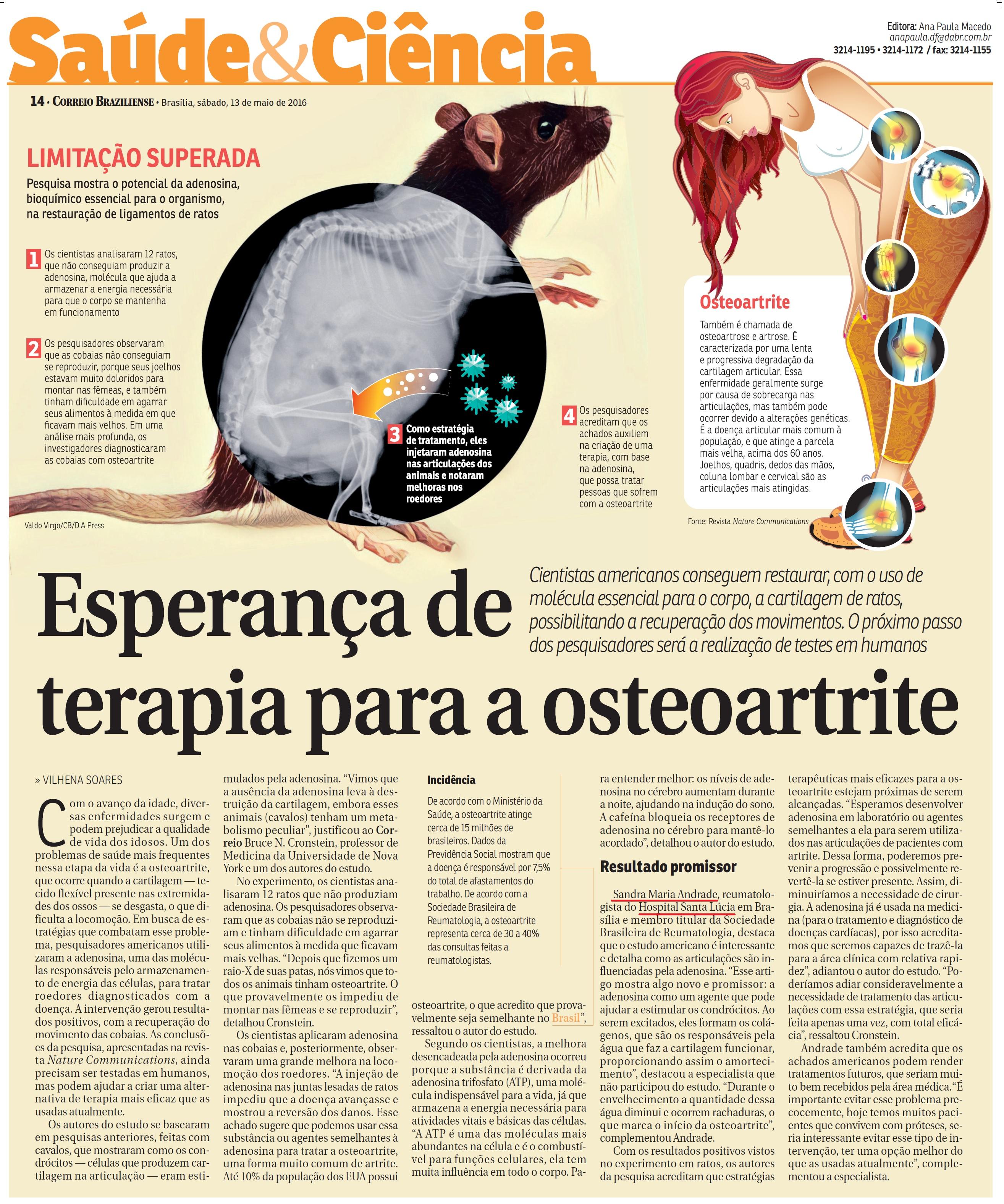 Correio Braziliense - Dra. Sandra Andrade HSL - 13-05-2017