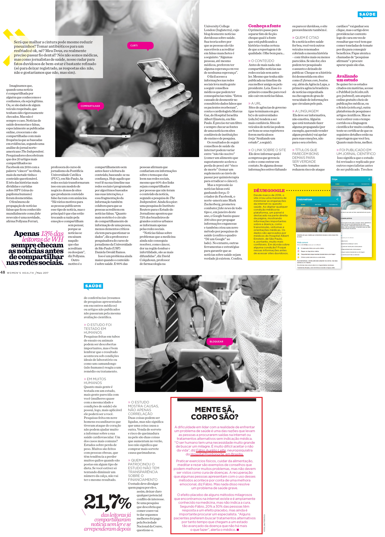 Revista Womens Health - Dr. Fábio Aurélio HPN - MAIO 2017