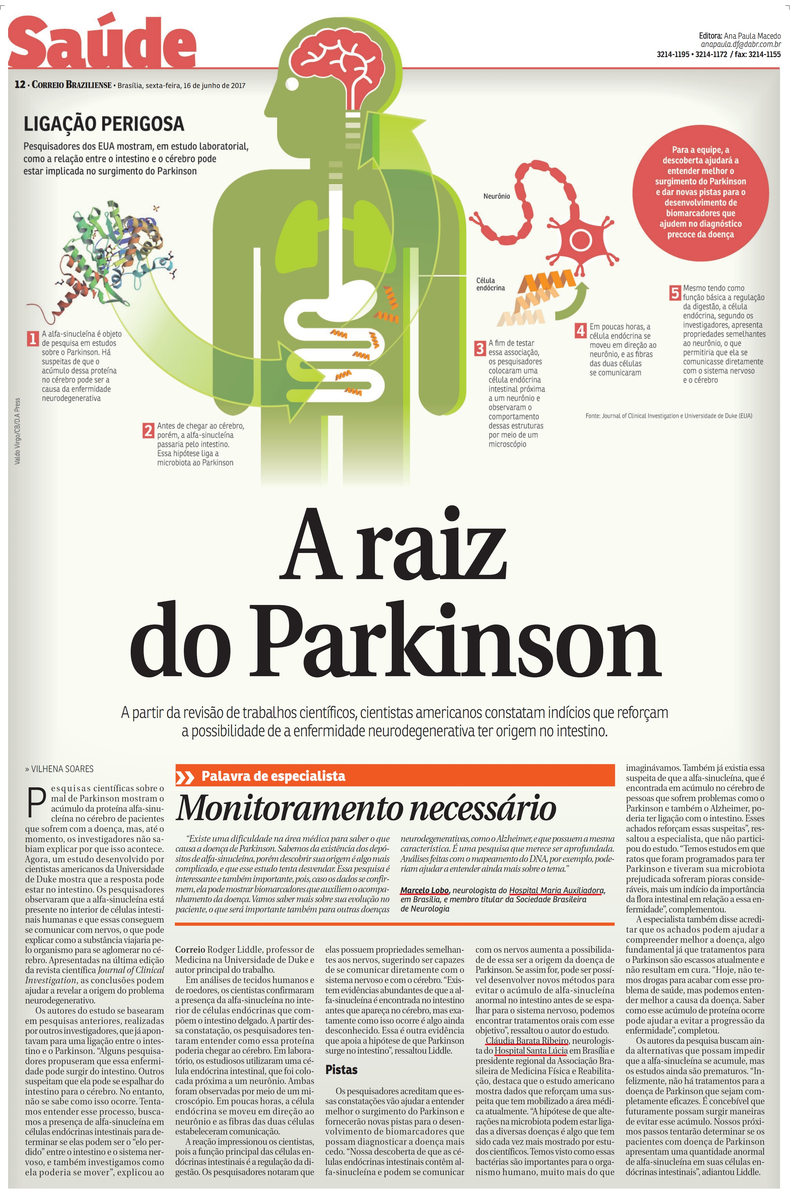 Correio Braziliense - Neurologia Grupo Santa - 16-06-2017
