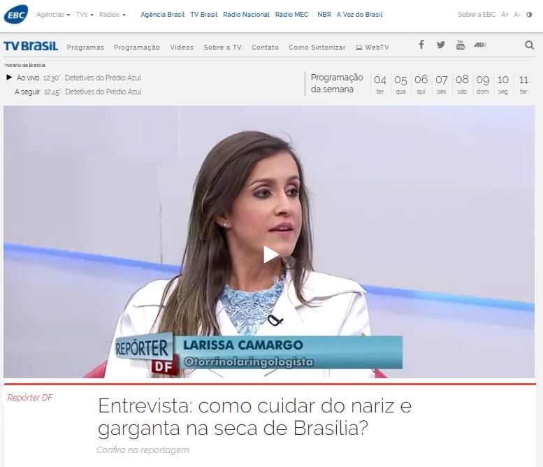 TV Brasil EBC - Dra. Larissa Camargo - 04-07-2017