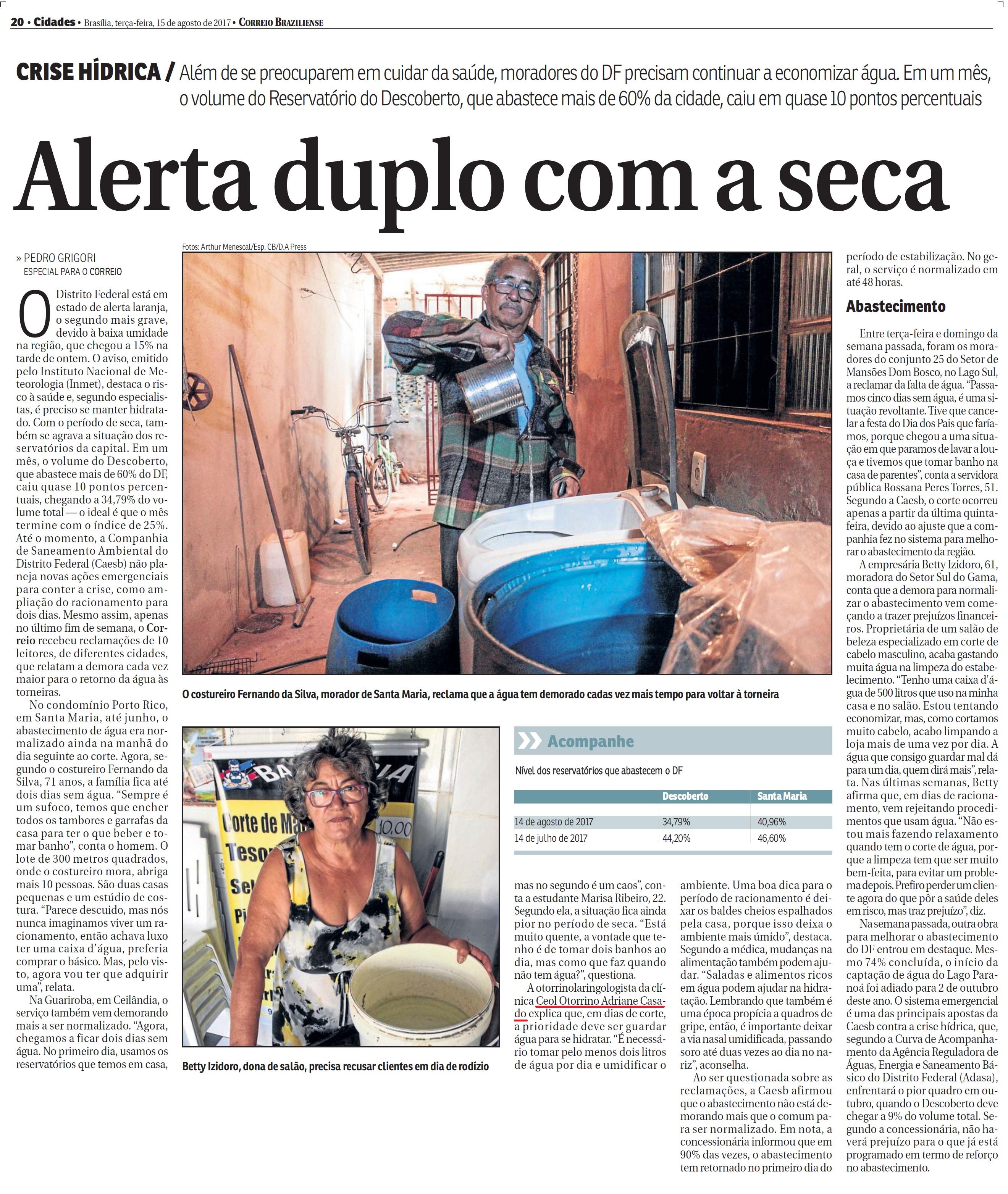 Correio Braziliense - Dra. Adriane Casado - 15-08-2017