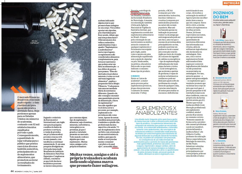 Revista Womens Health Brasil (matéria) - Dr. Allan Ferreira HSL - Junho de 2017