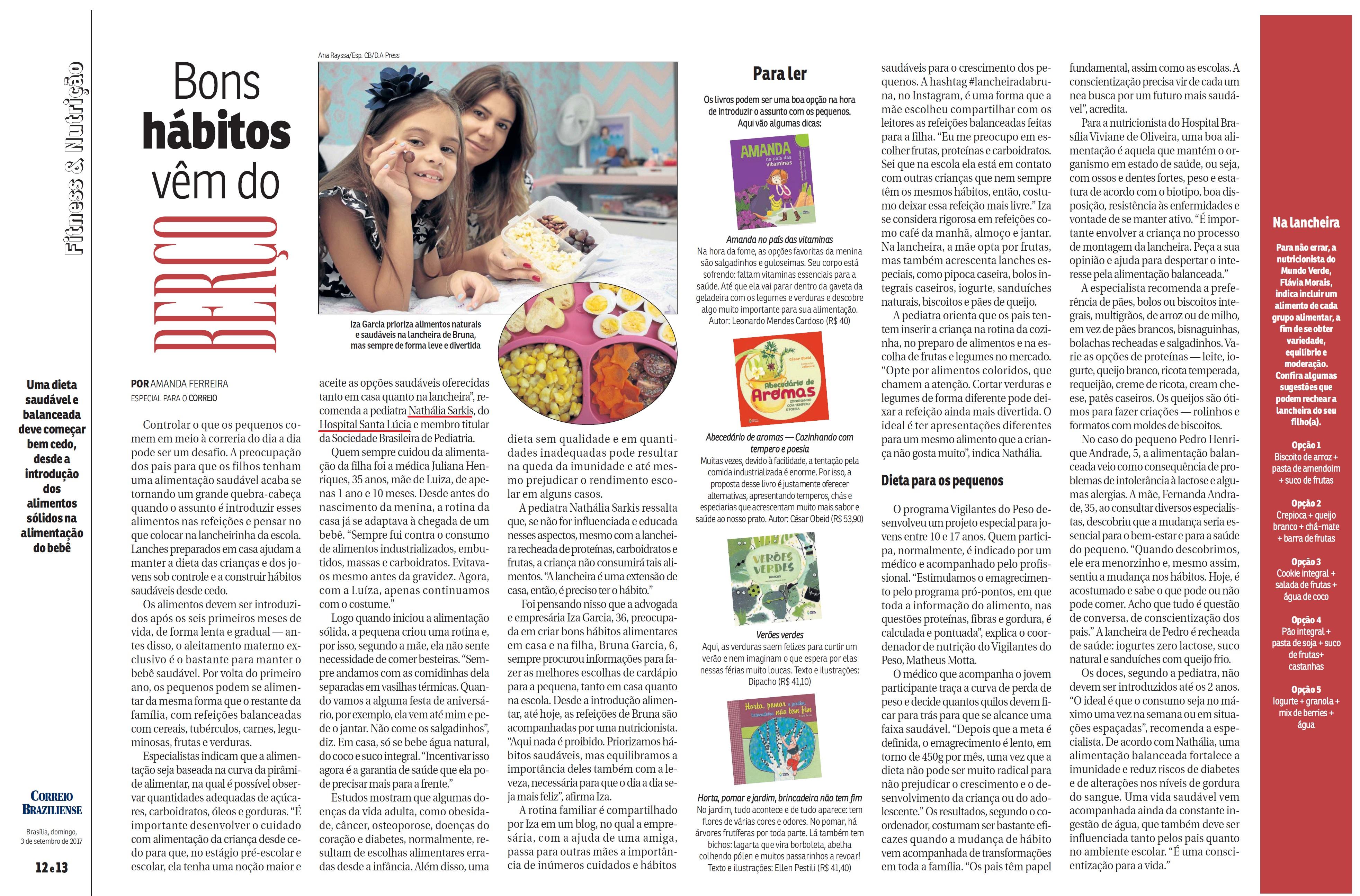 Revista do Correio - Dra. Nathália Sarkis HSL - 03-09-2017