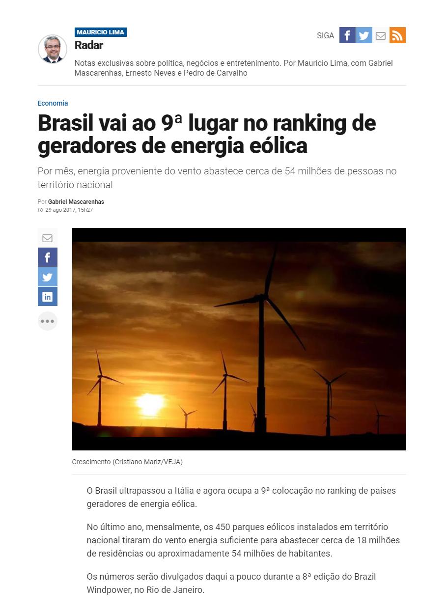 Veja 2 - Brazil Windpower