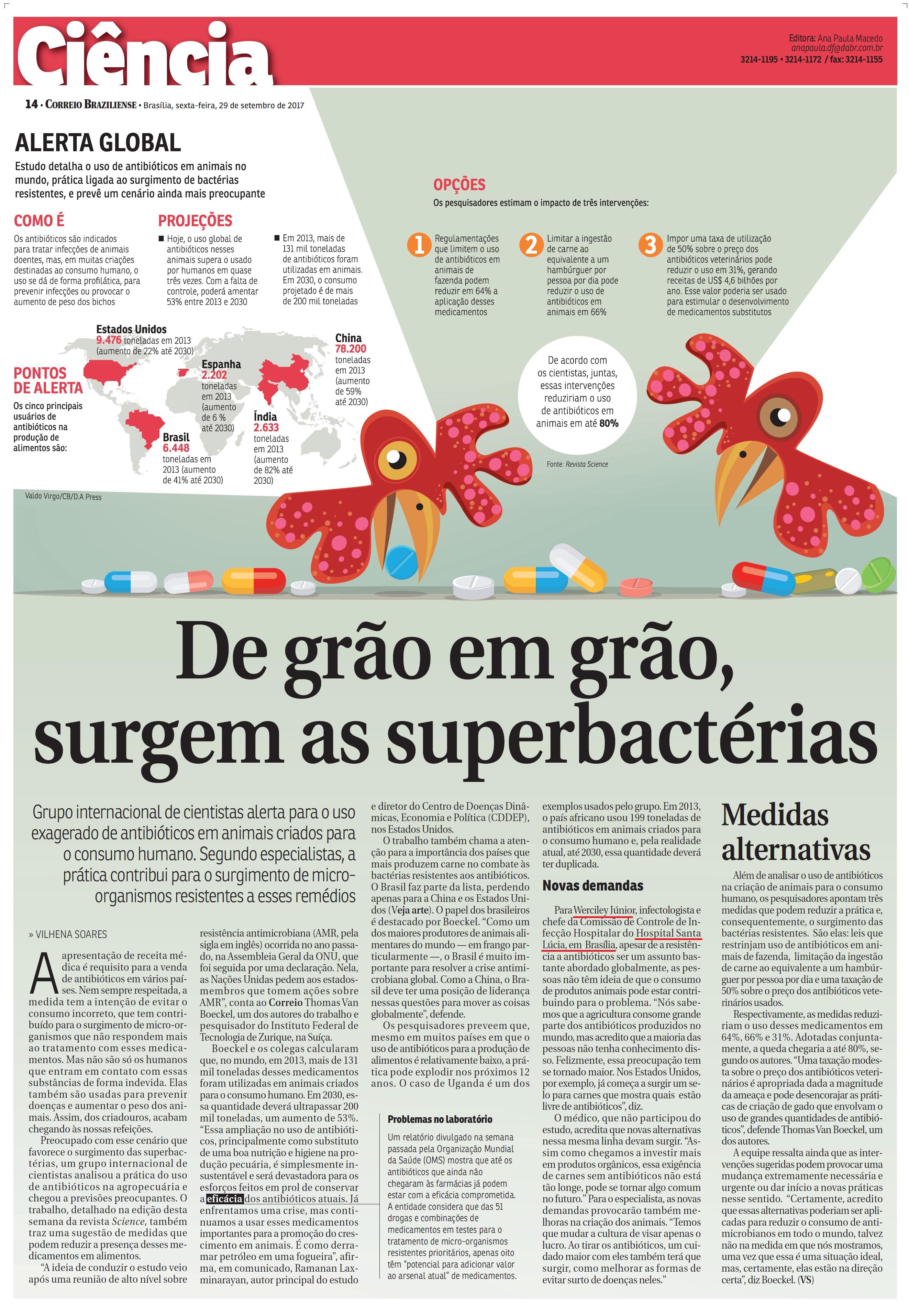 Correio Braziliense - Dr. Werciley Júnior HSL - 29-09-2017