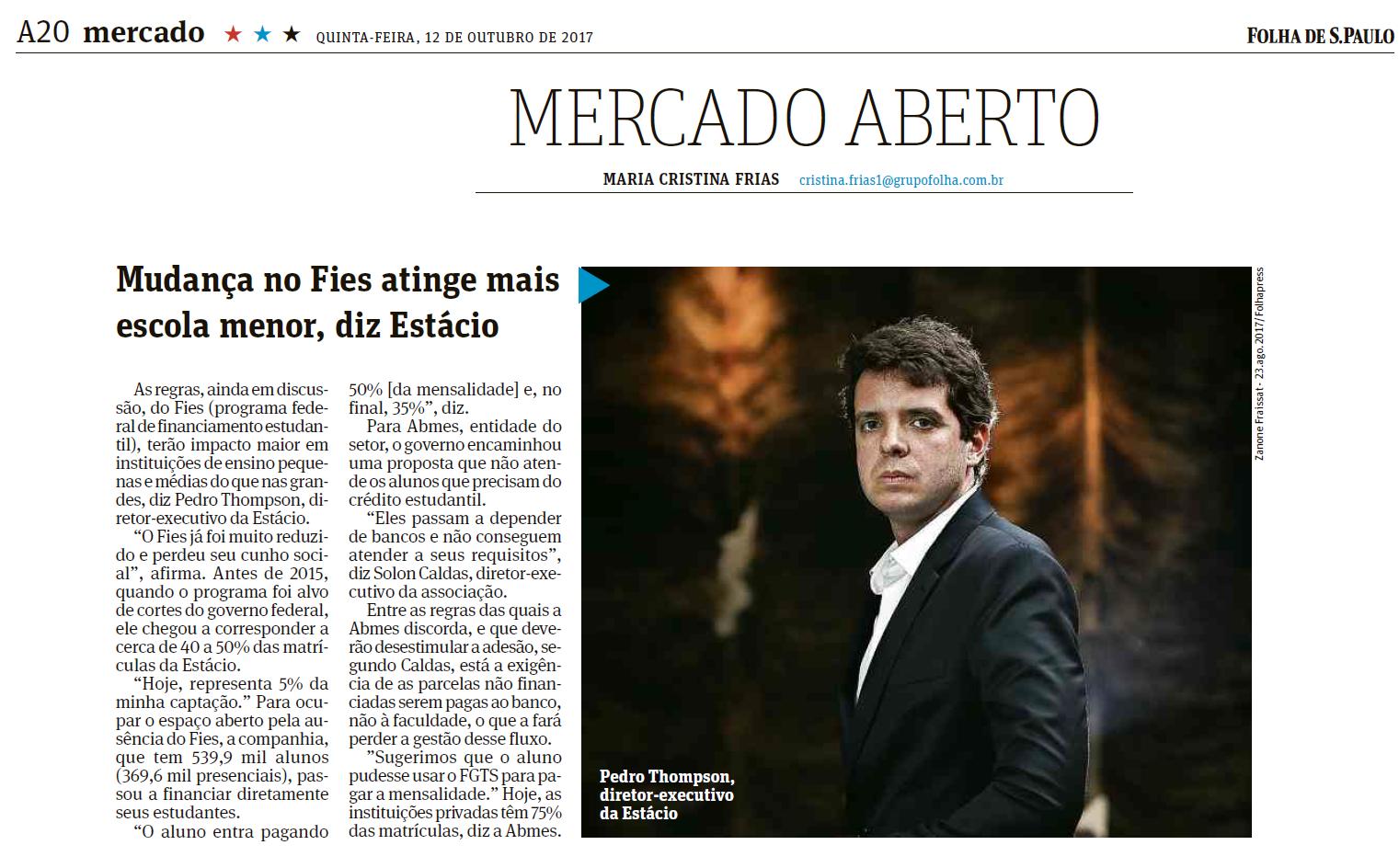 Folha S. Paulo - ABMES -161017