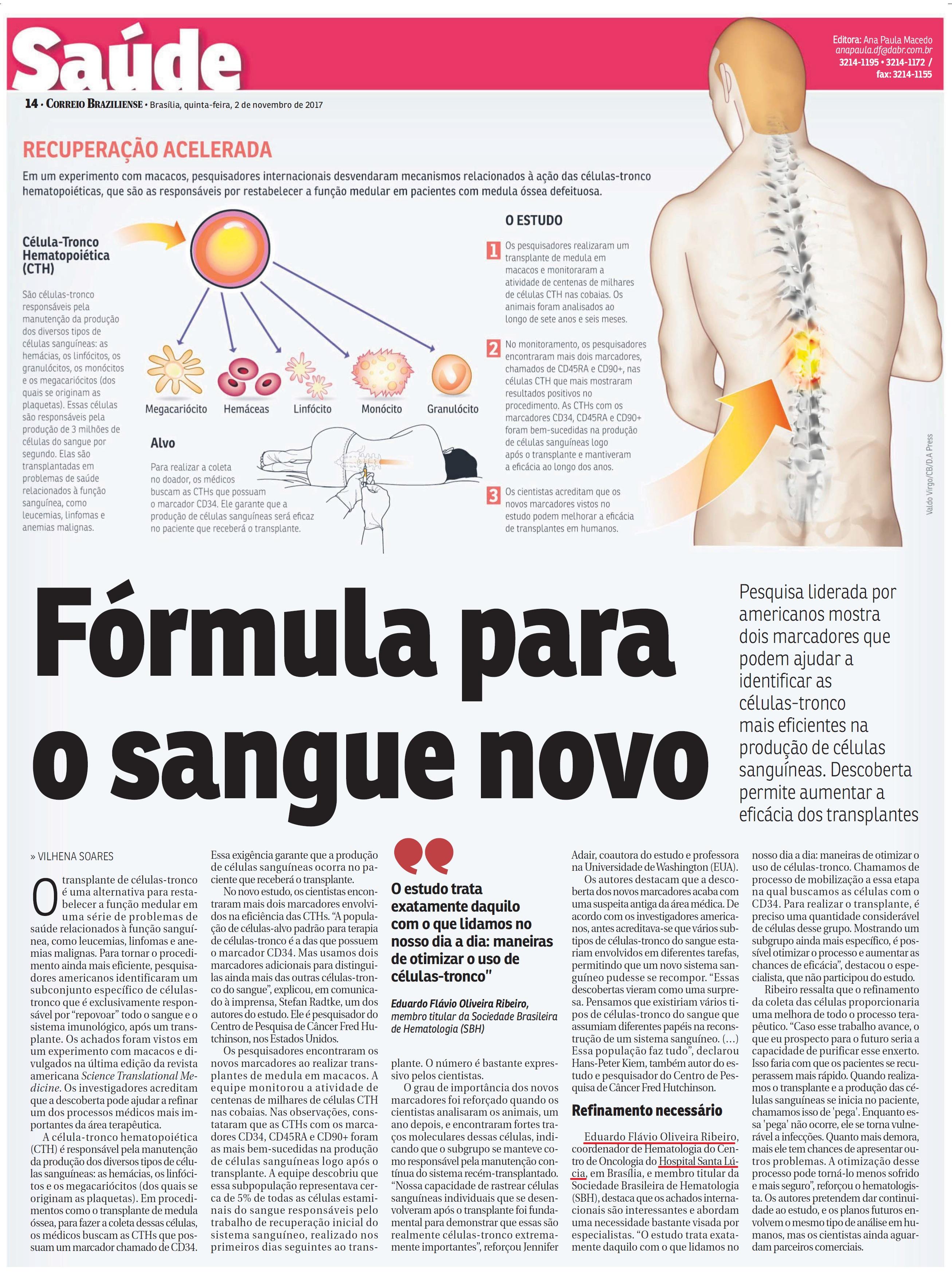 Correio Braziliense - Dr. Eduardo Flávio Ribeiro HSL - 02-11-2017