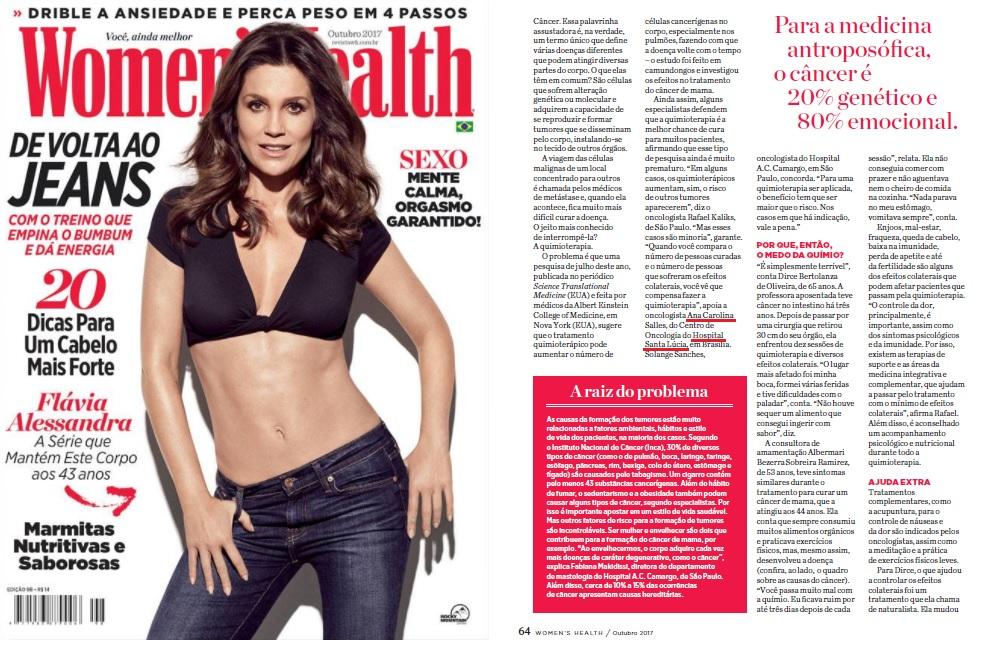 Womens Health (capa e matéria) - Dra. Ana Carolina HSL - Outubro 2017
