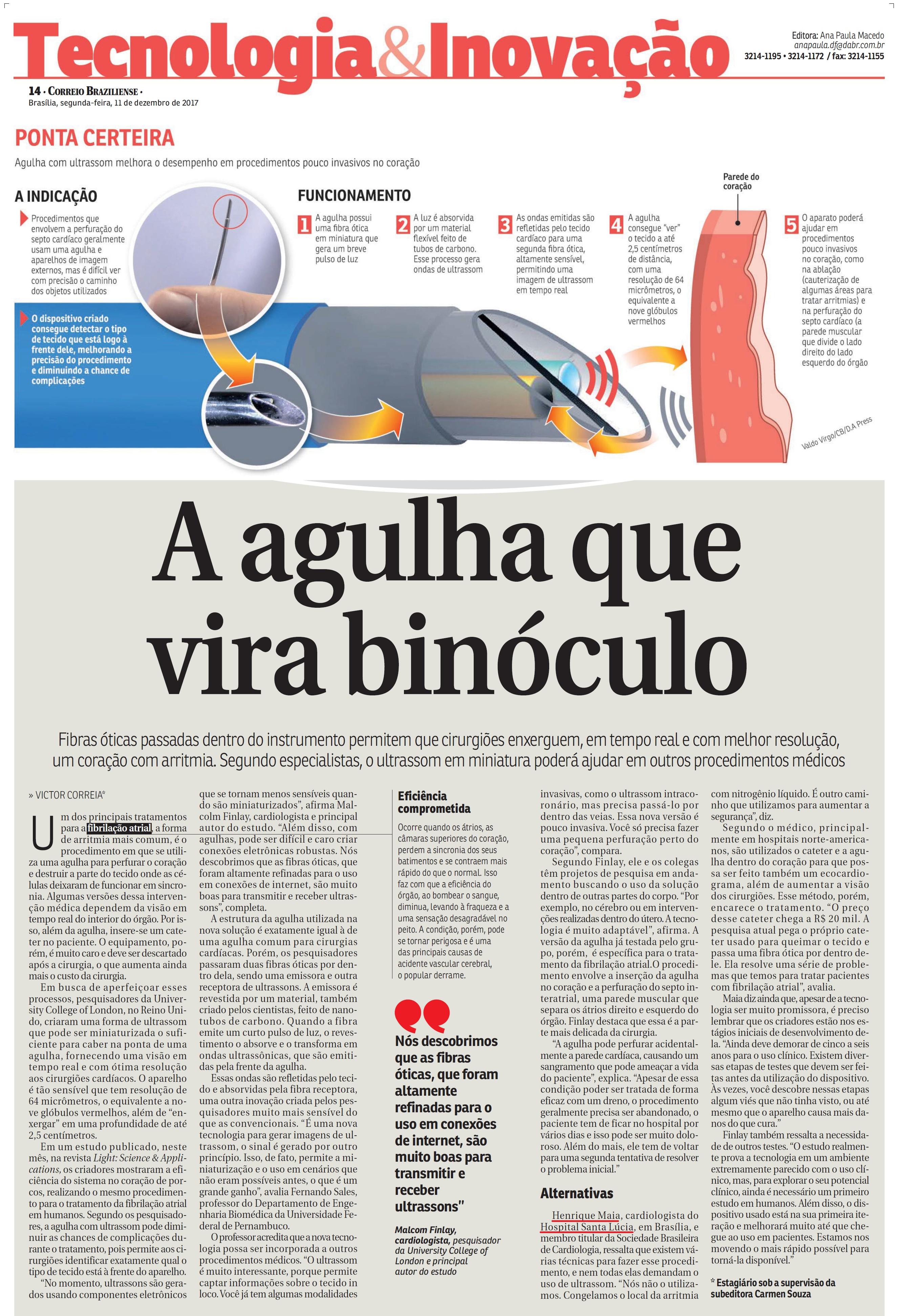 Correio Braziliense - Dr. Henrique Maia HSL - 11-12-2017