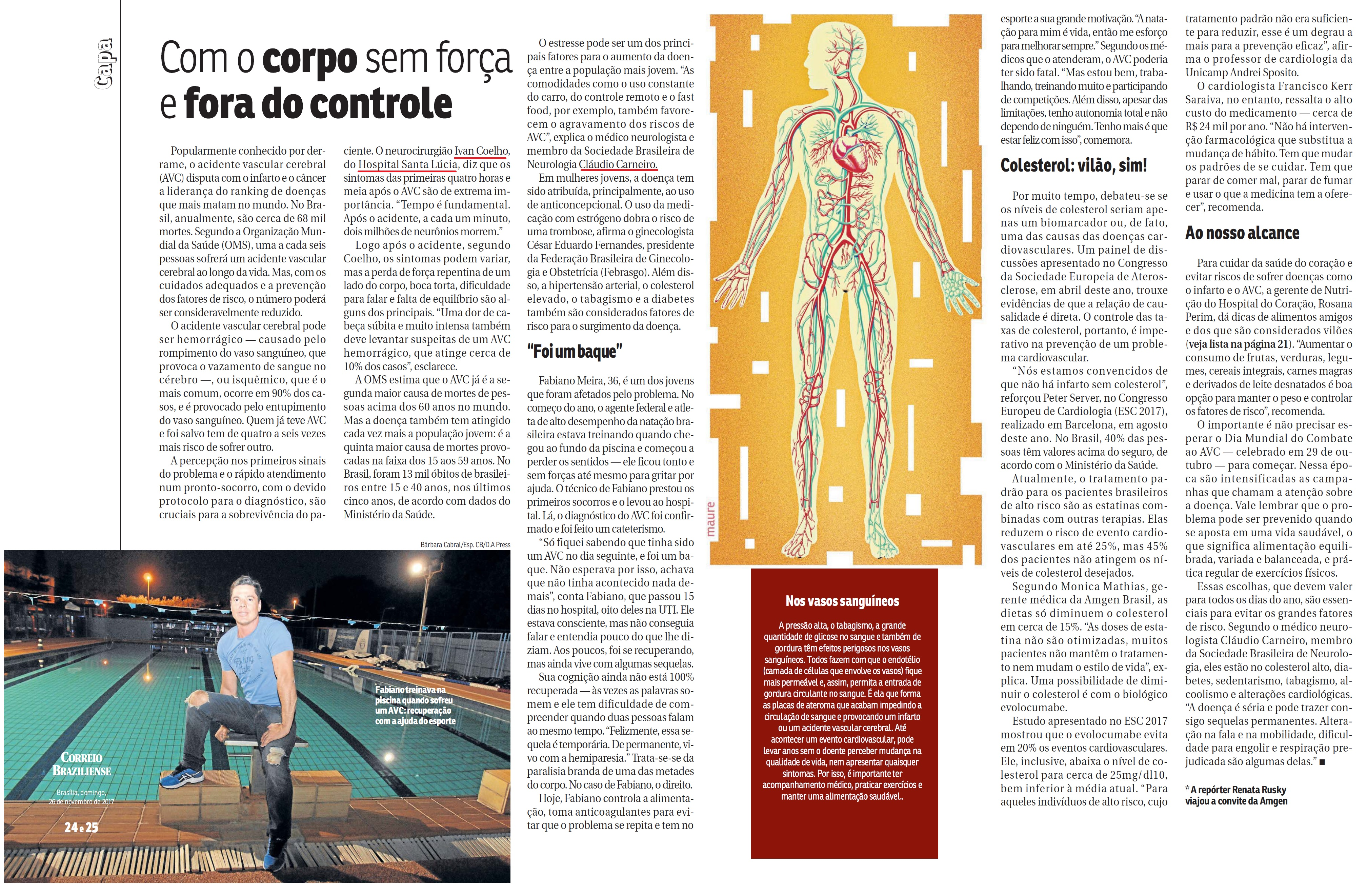 Revista do Correio - Dr. Ivan e Dr. Cláudio HSL - 26-11-2017