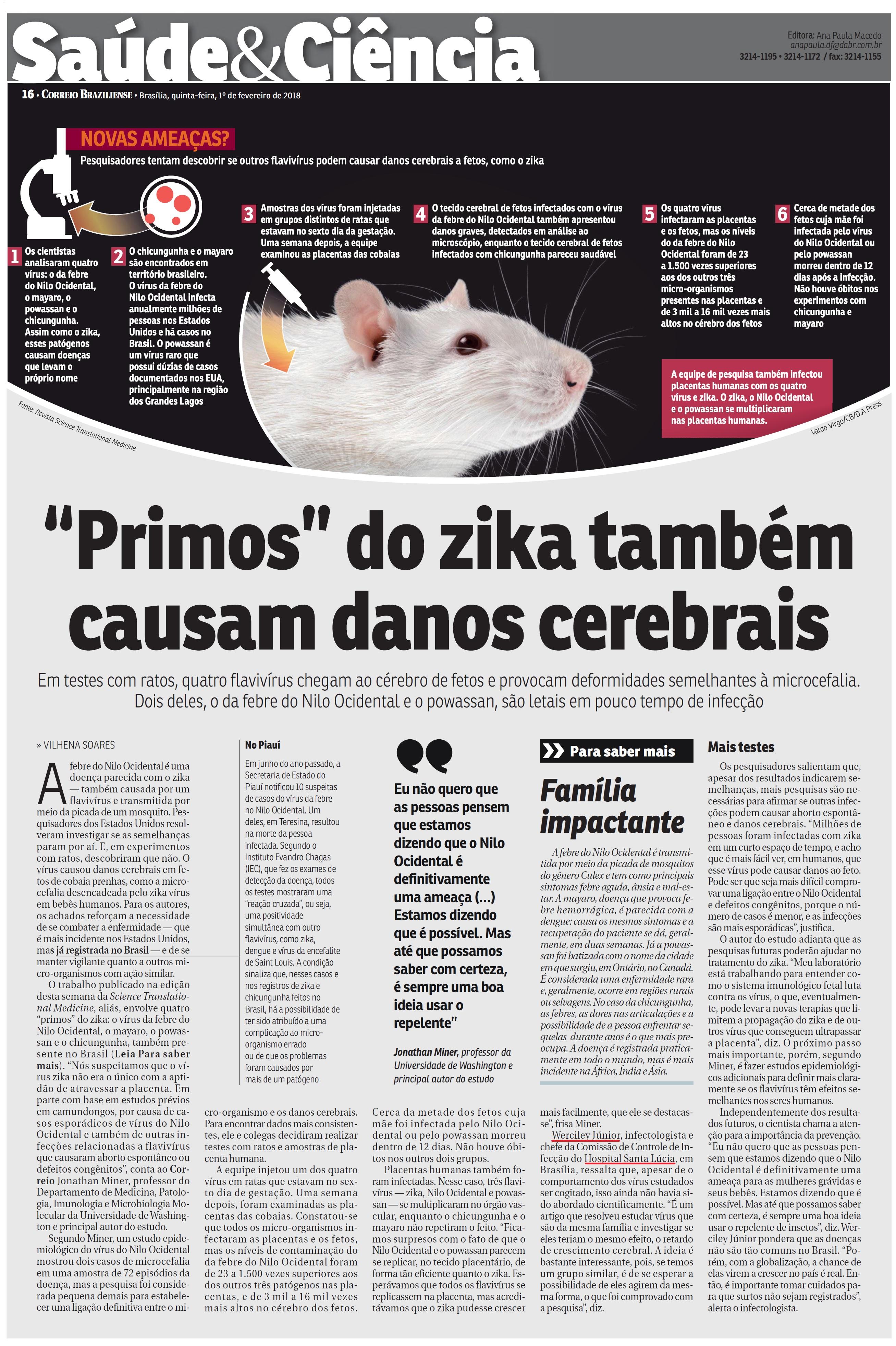 Correio Braziliense - Dr. Werciley Júnior HSLS - 01-02-2018