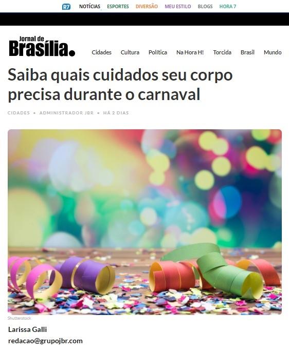 Jornal de Brasília - Dr. Caio Athayde - 03-02-2018