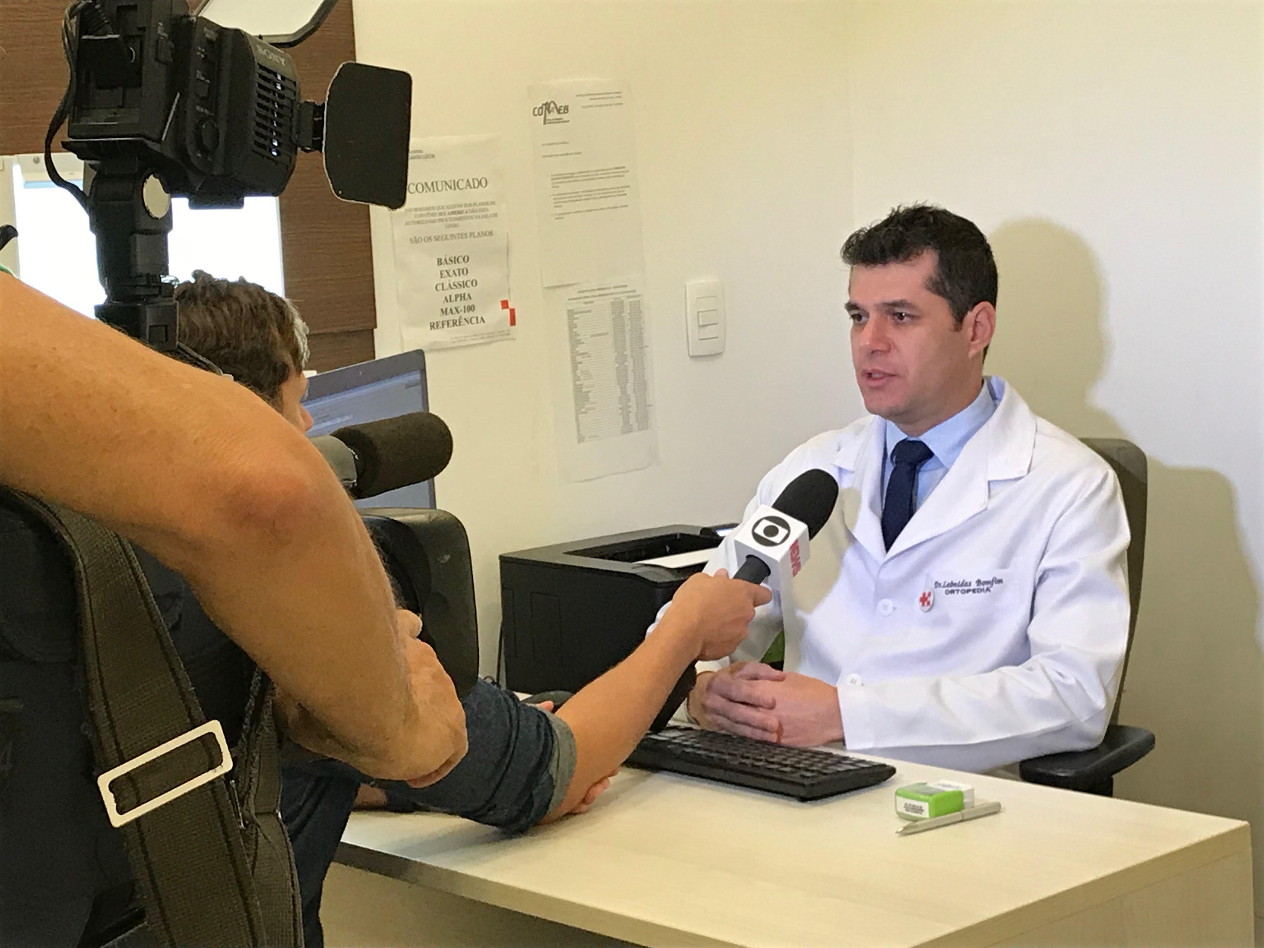 TV Globo - Dr. Leônidas Bomfim HSLS - 31-01-2018