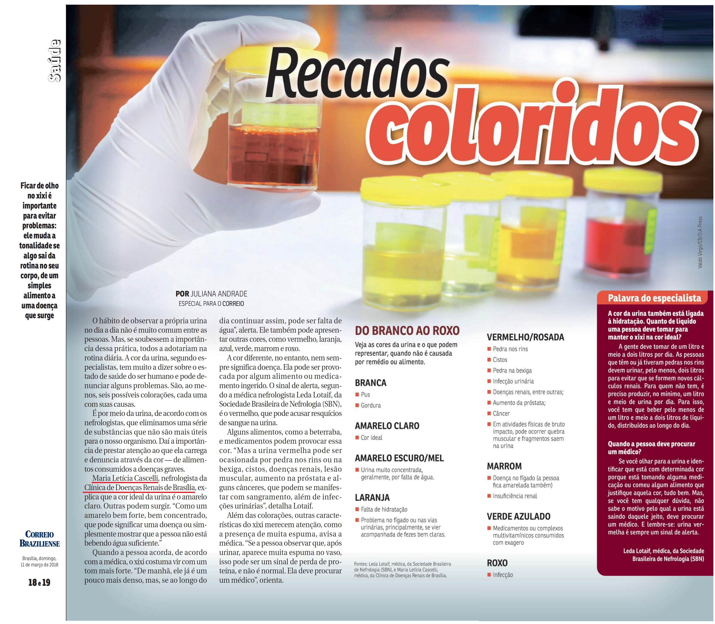 Revista do Correio - Dra. Maria Letícia Cascelli CDRB - 11-03-2018
