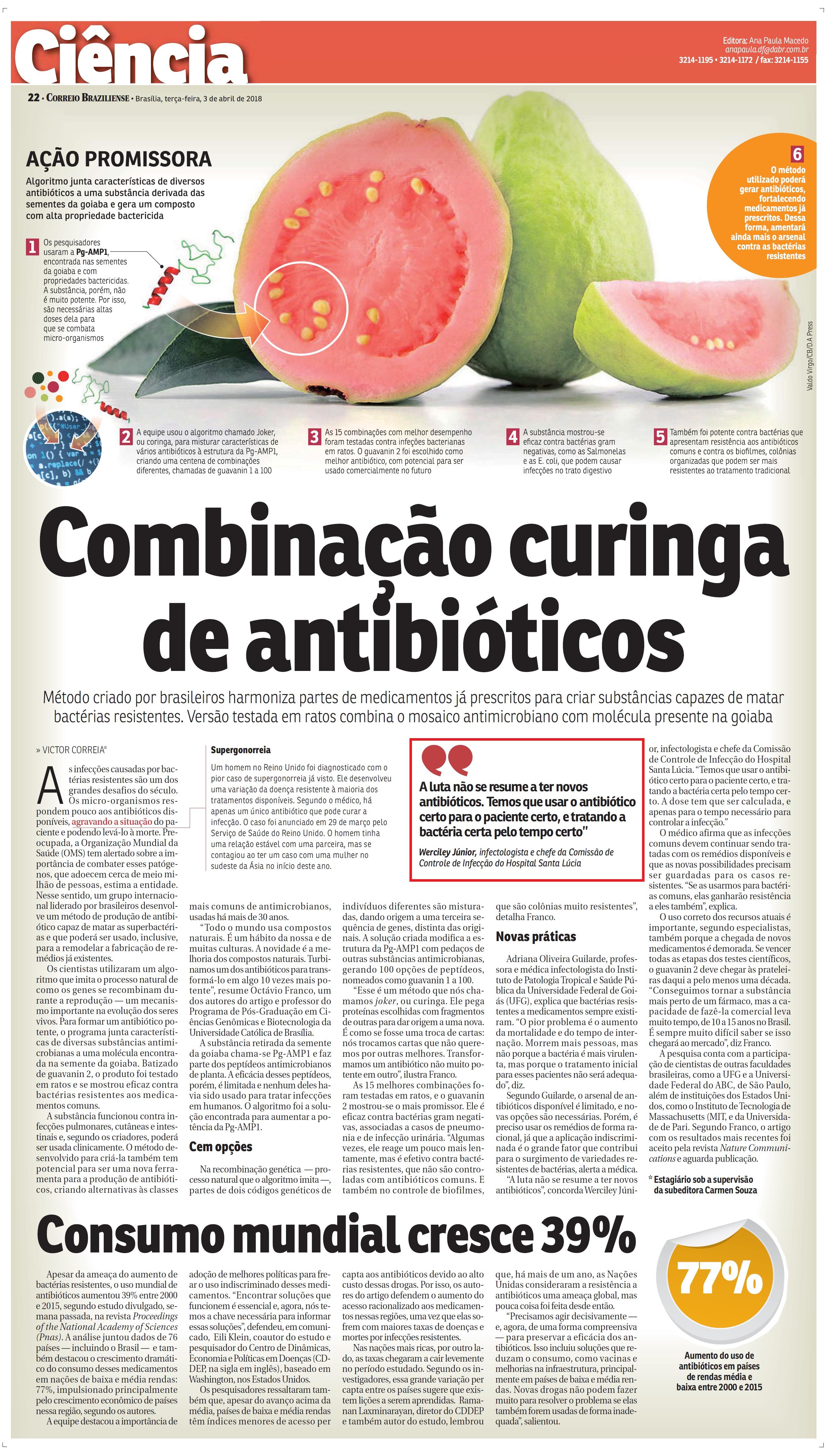 Correio Braziliense - Dr. Werciley Júnior HSLS - 03-04-2018