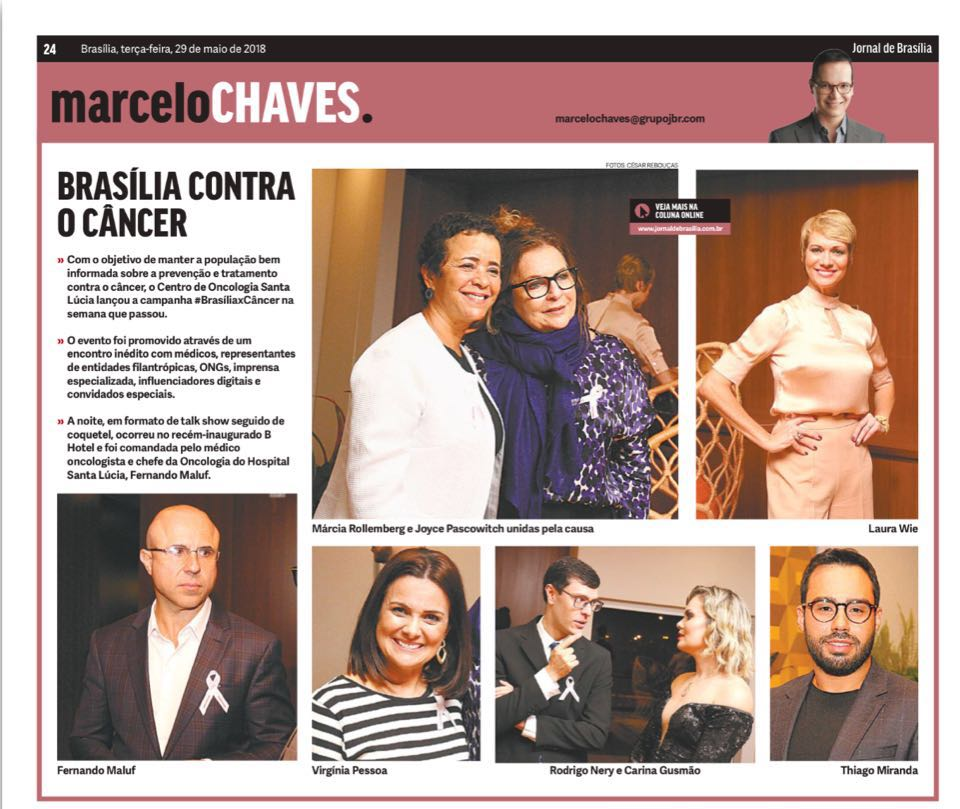 Jornal de Brasília Marcelo Chaves - Brasília Contra o Câncer - 29-05-2018