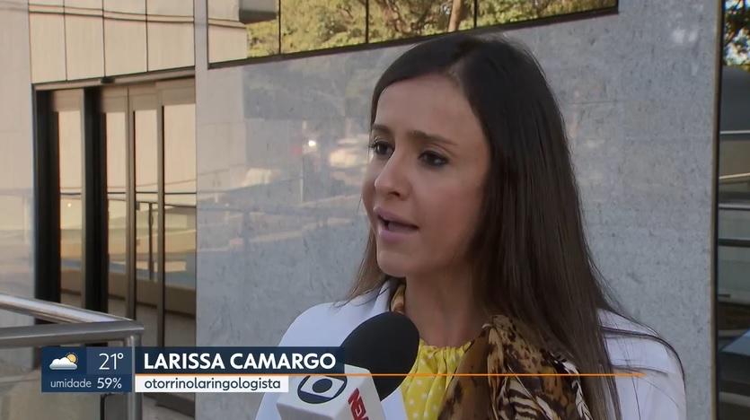 TV Globo G1 - Dra. Larissa Camargo HSLS - 09-05-2018