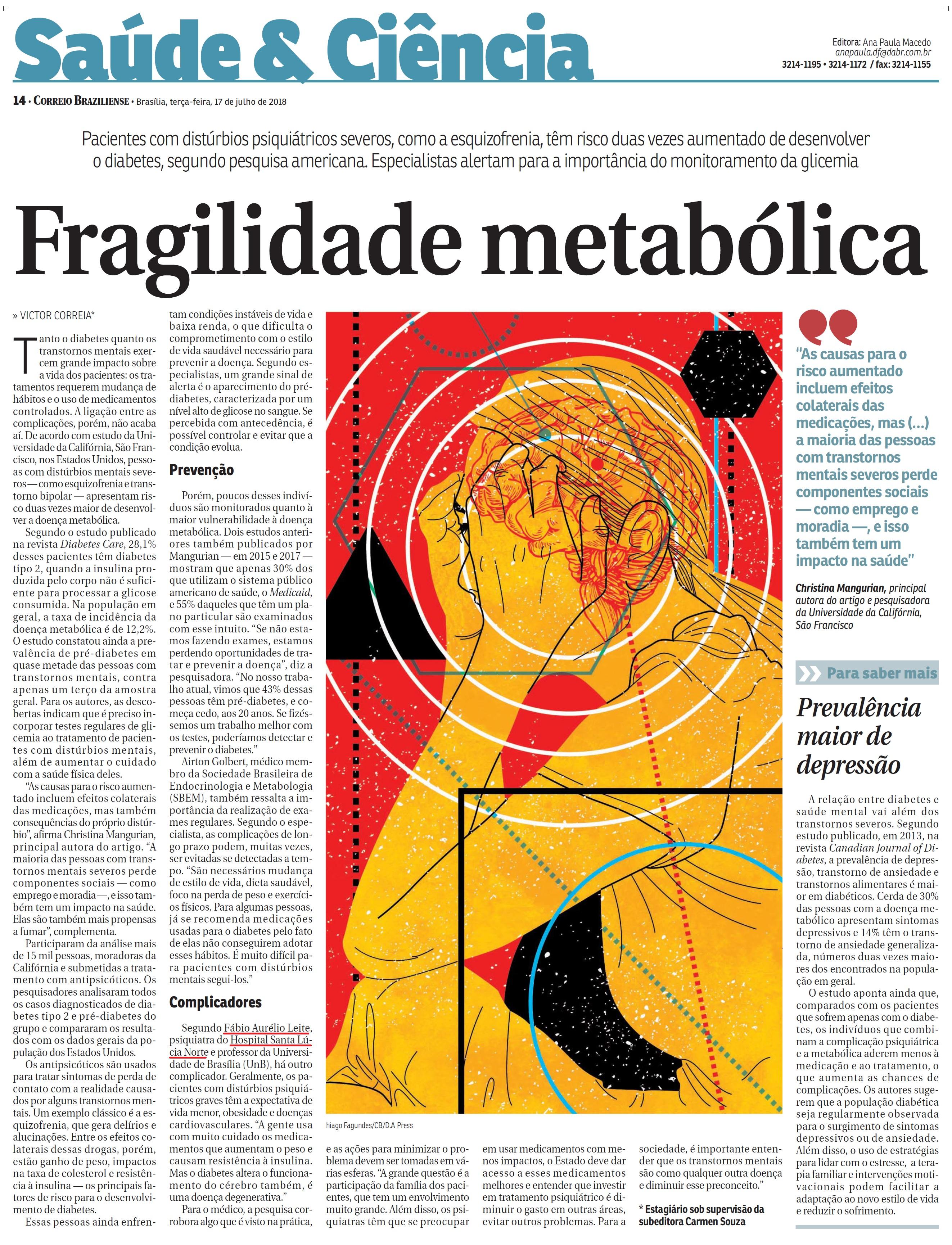 Correio Braziliense - Dr. Fábio Aurélio Leite HSLN - 17-07-2018