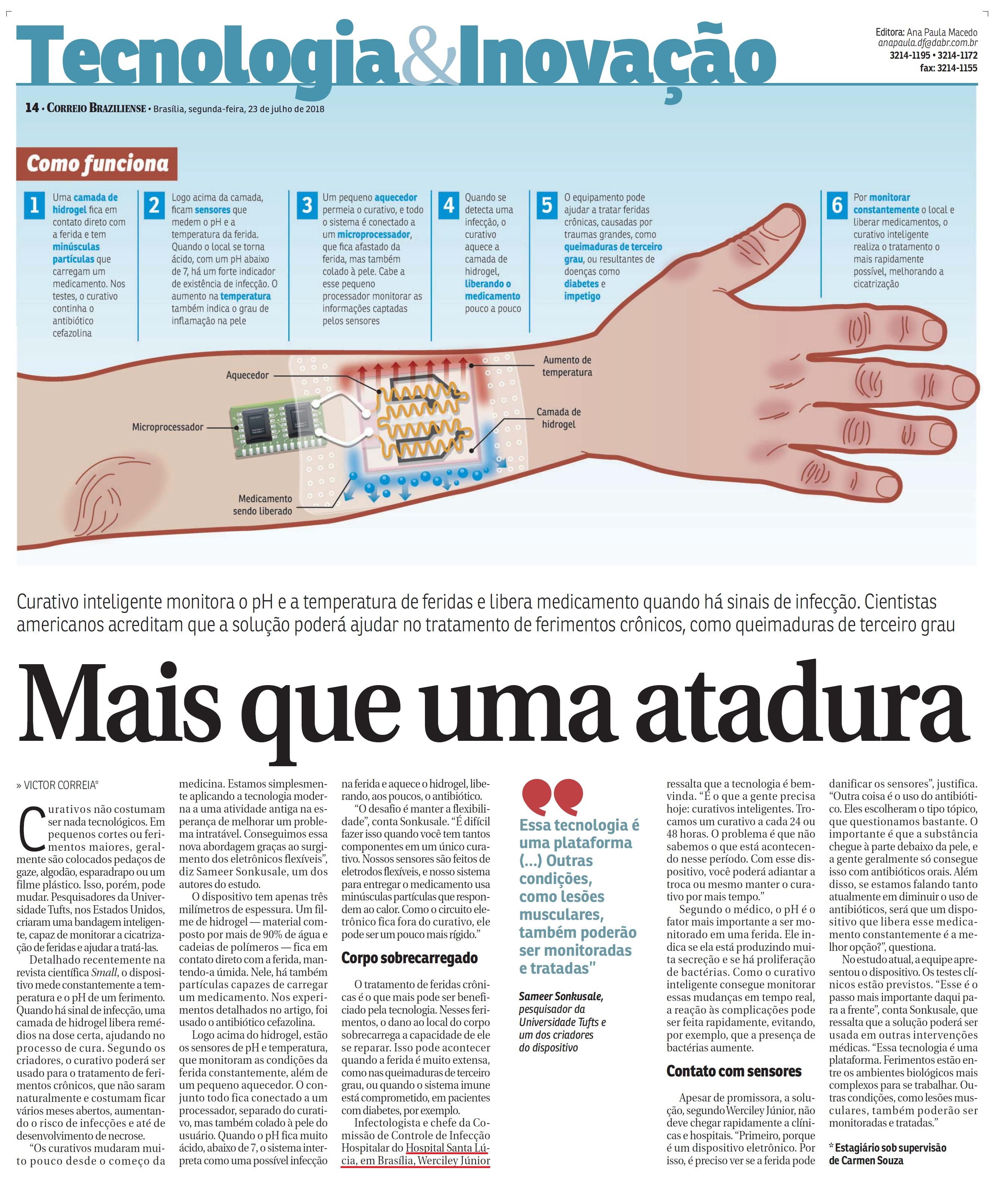 Correio Braziliense - Dr. Werciley Júnior HSLS - 23-07-2018