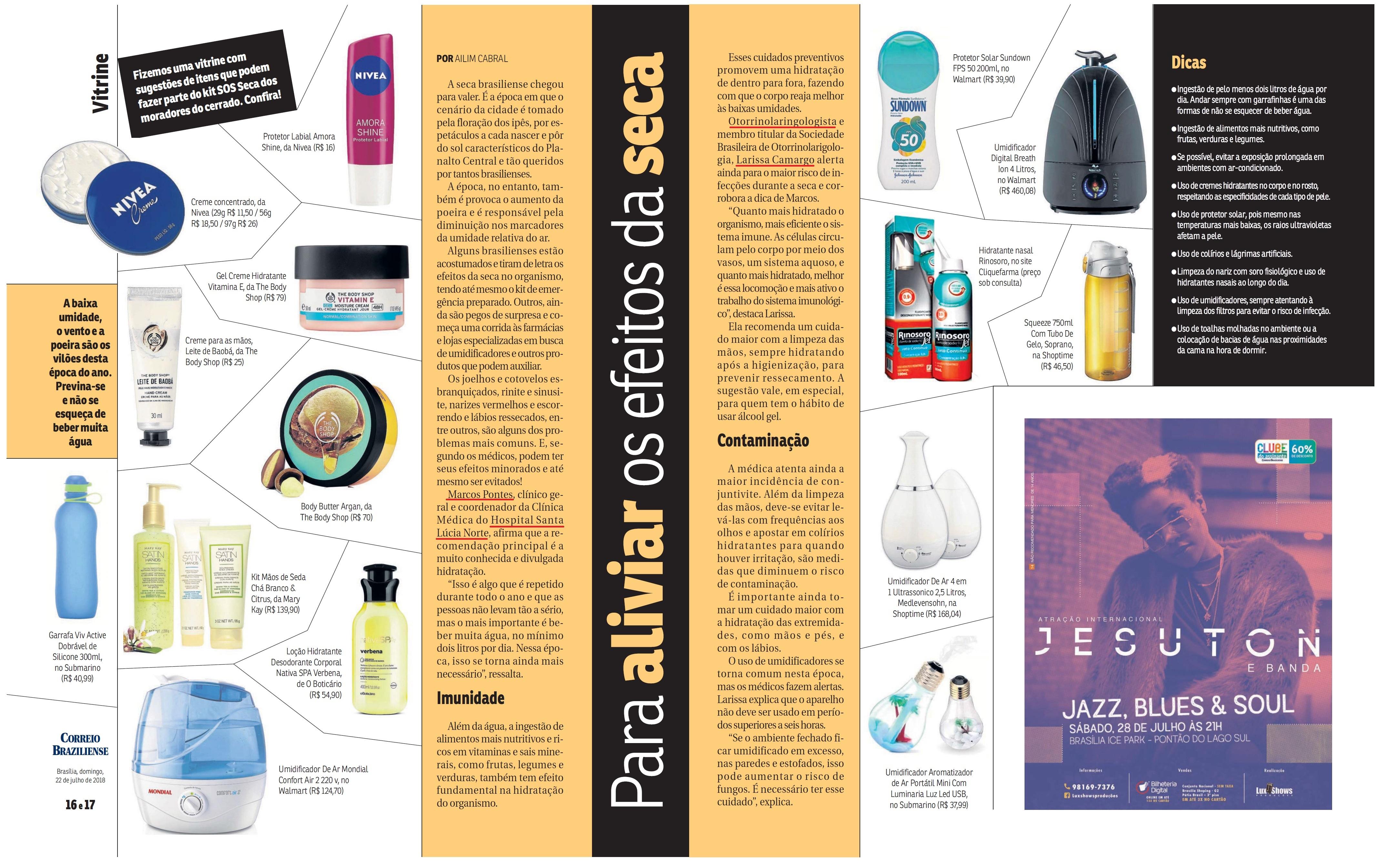Revista do Correio - Dr. Marcos Pontes e Dra. Larissa Camargo HSLS - 23-07-2018