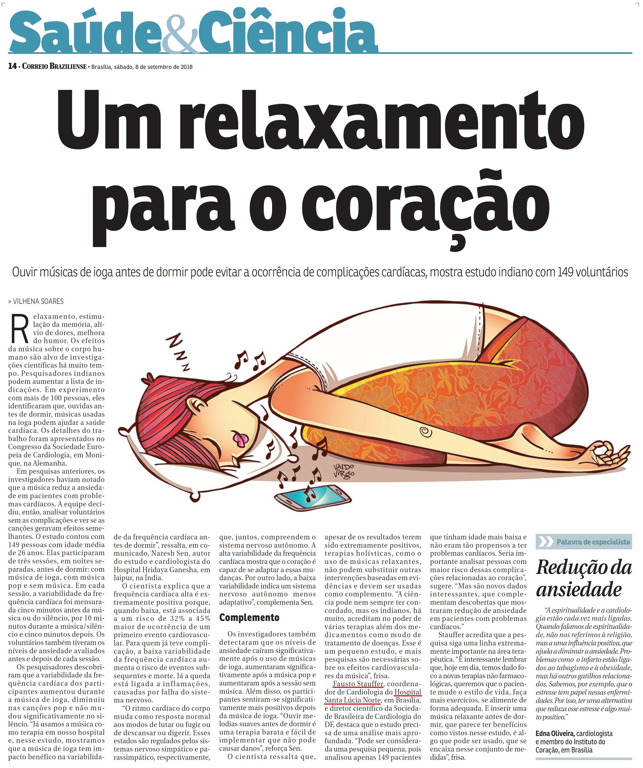 Correio Braziliense - Dr. Fausto Stauffer HSLN - 08-09-2018