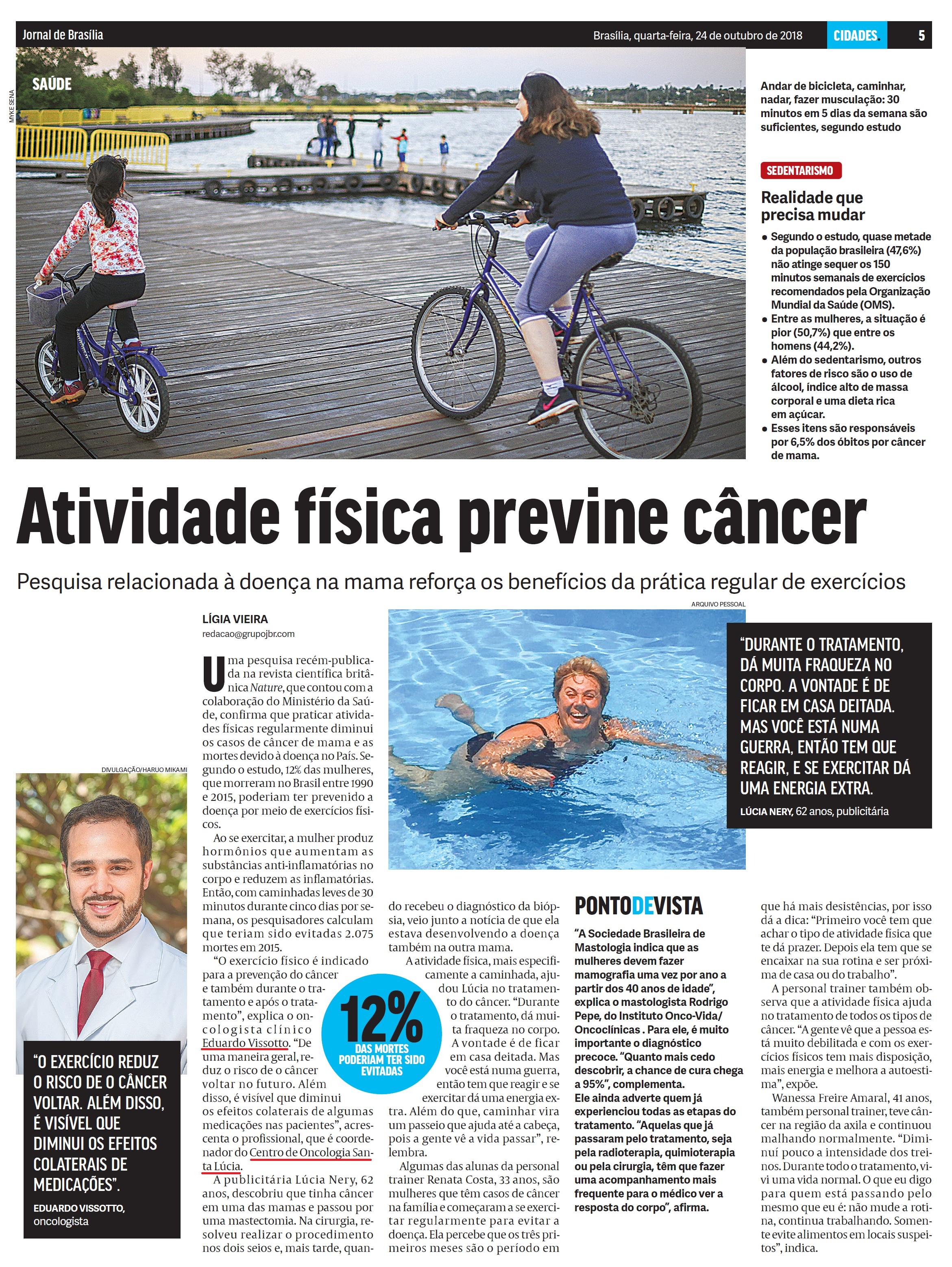Jornal de Brasília - Dr. Eduardo Vissotto HSLS - 24-10-2018