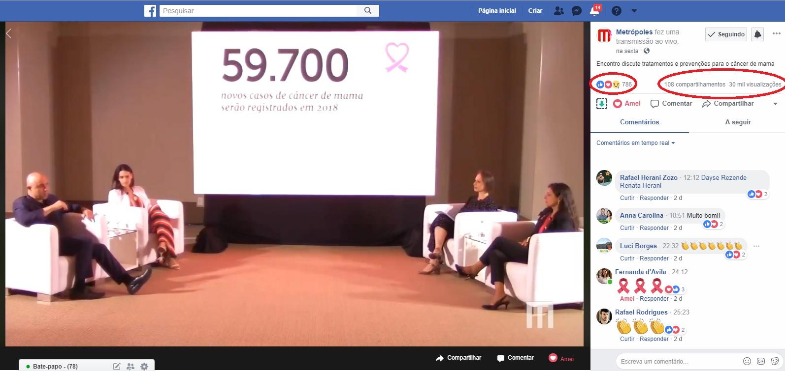 Metrópoles Facebook 2 - Congresso Oncologia - 19-10-2018