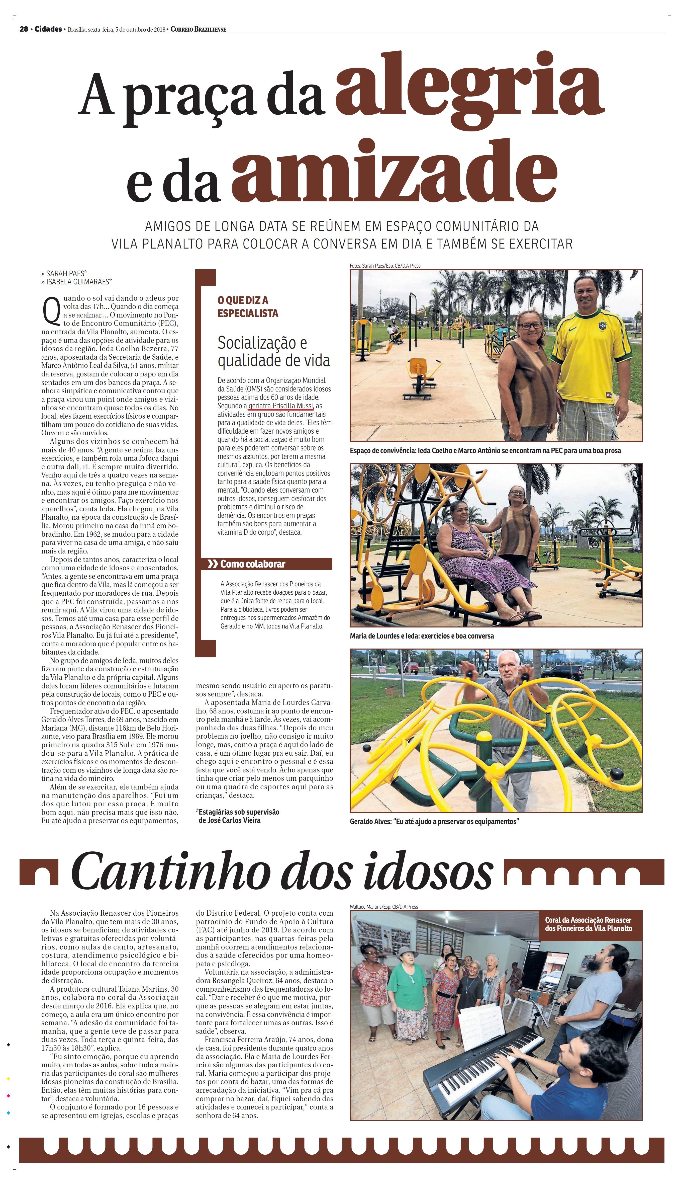 Correio Braziliense - Priscilla Mussi HSLS - 05-11-2018
