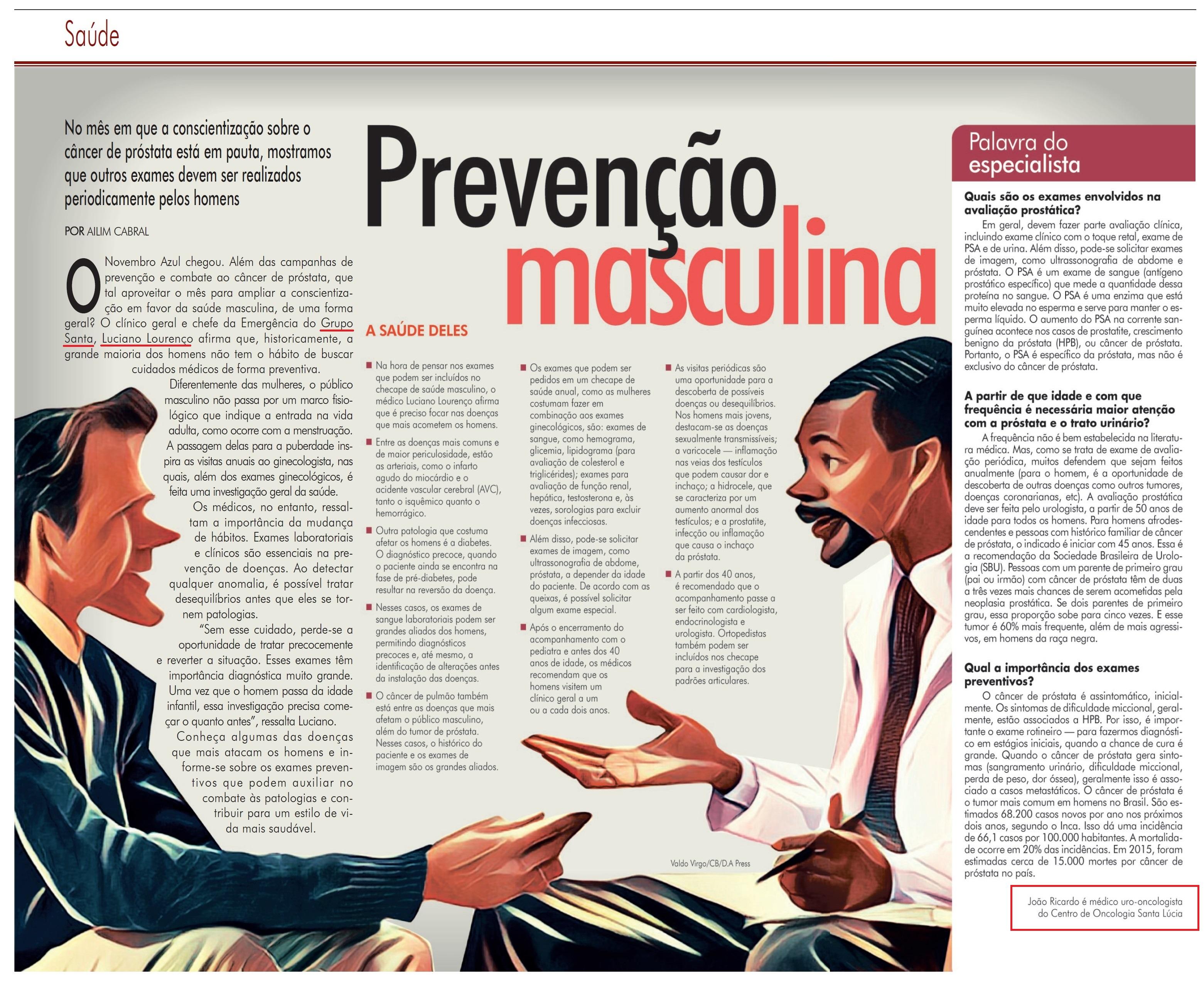 Revista do Correio - Dr. Luciano Lourenço e Dr. João Ricardo HSLS - 04-11-2018