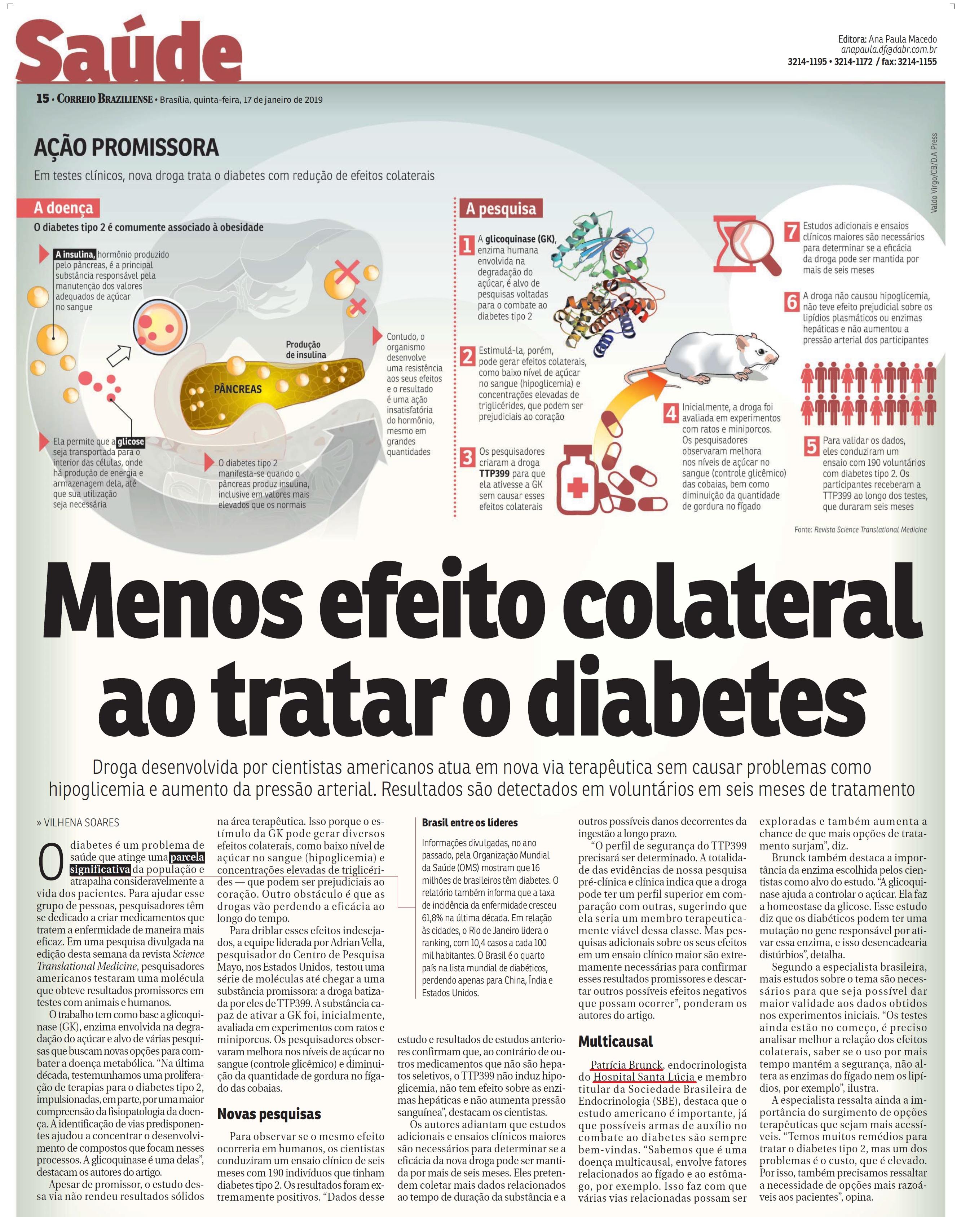 Correio Braziliense - Dra. Patrícia Brunck HSLS - 17-01-2019