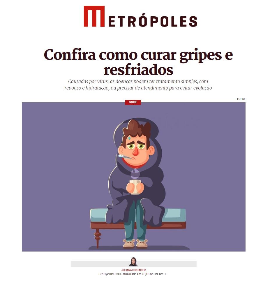 Metrópoles - Dr. Luciano Lourenço HSLS - 14 de janeiro de 2019