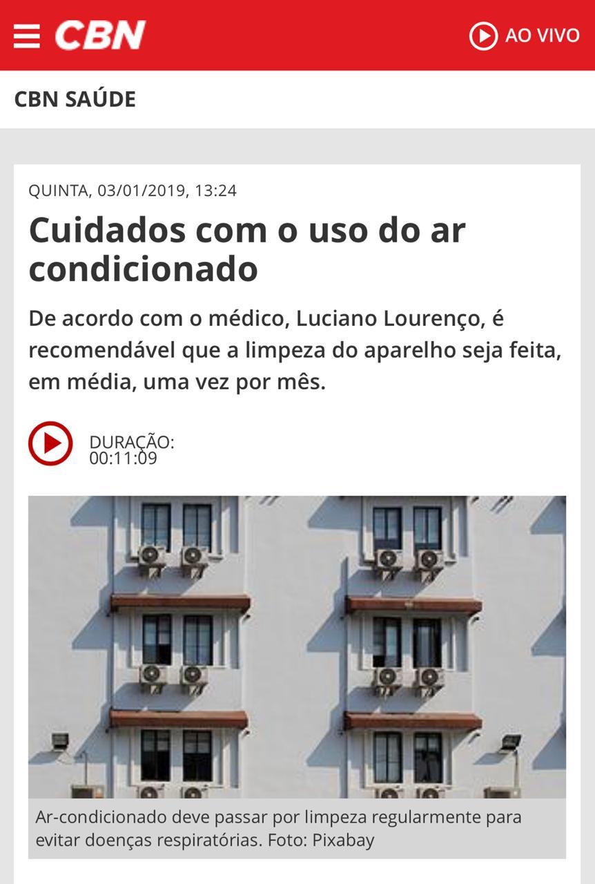 Rádio CBN Brasília (Site) - Dr. Luciano Lourenço HSLS - 03-01-2019