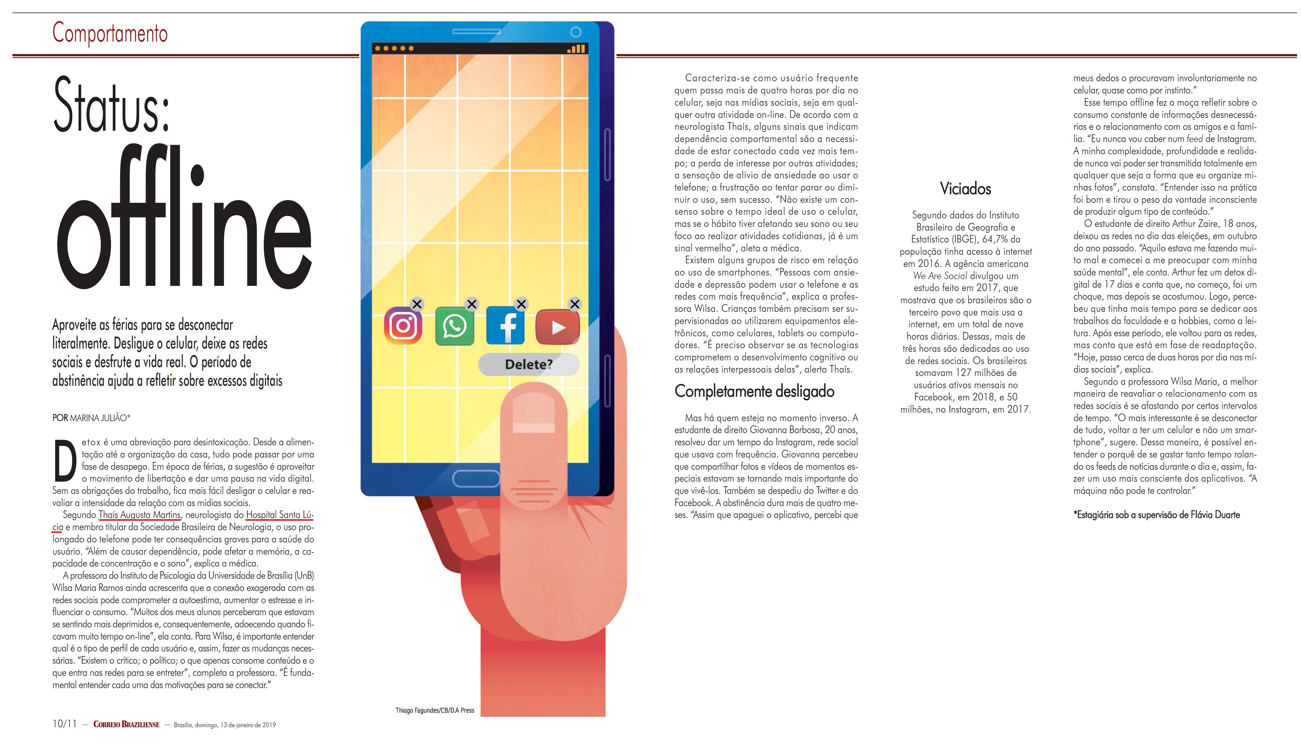Revista do Correio - Dra. Thaís Augusta Martins HSLS - 13-01-2019