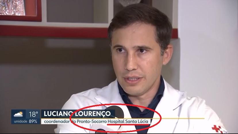 TV Globo (citação) - Dr. Luciano Lourenço HSLS - 05-02-2019
