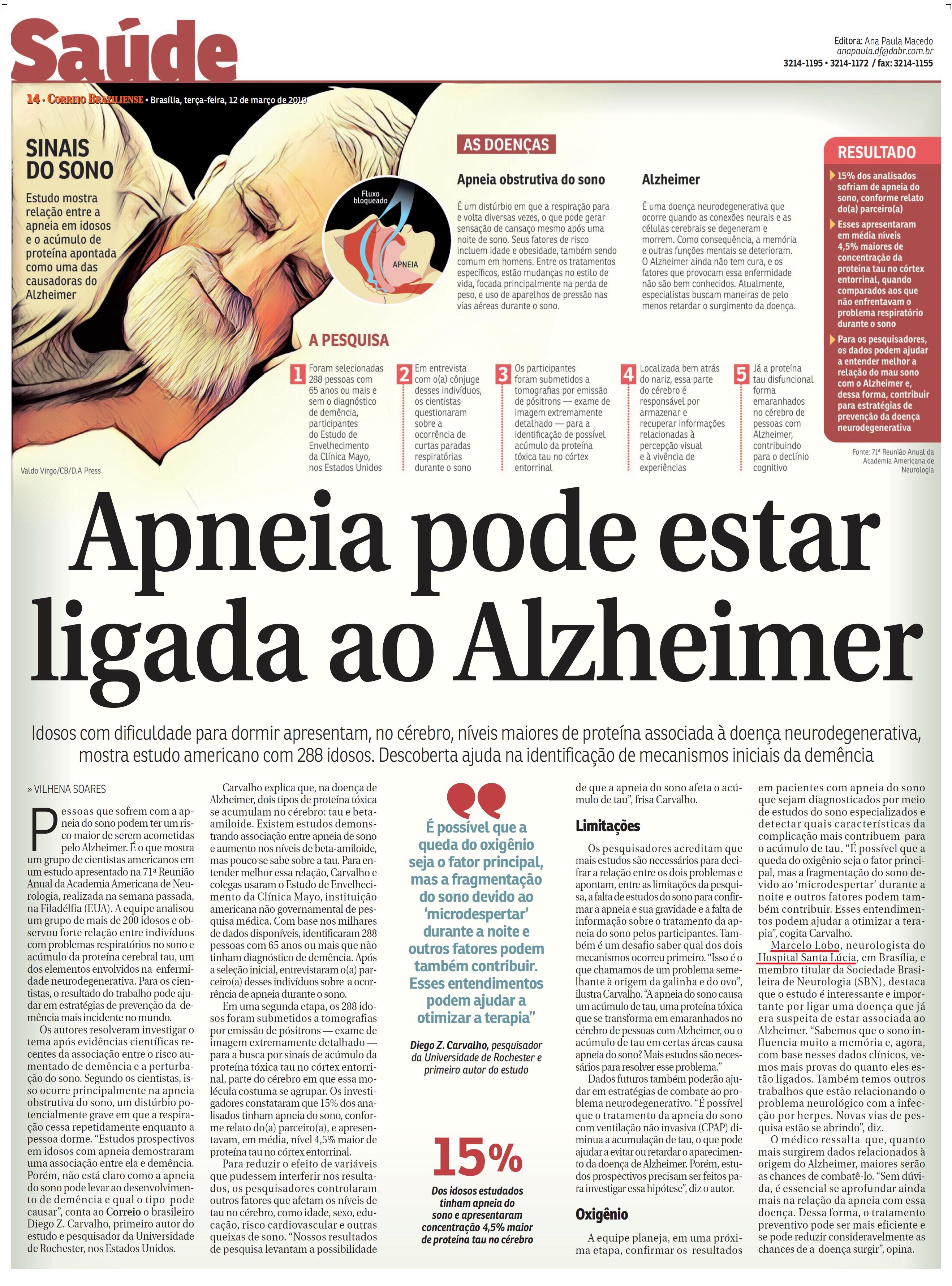 Correio Braziliense - Dr. Marcelo Lobo HSLS - 12-03-2019