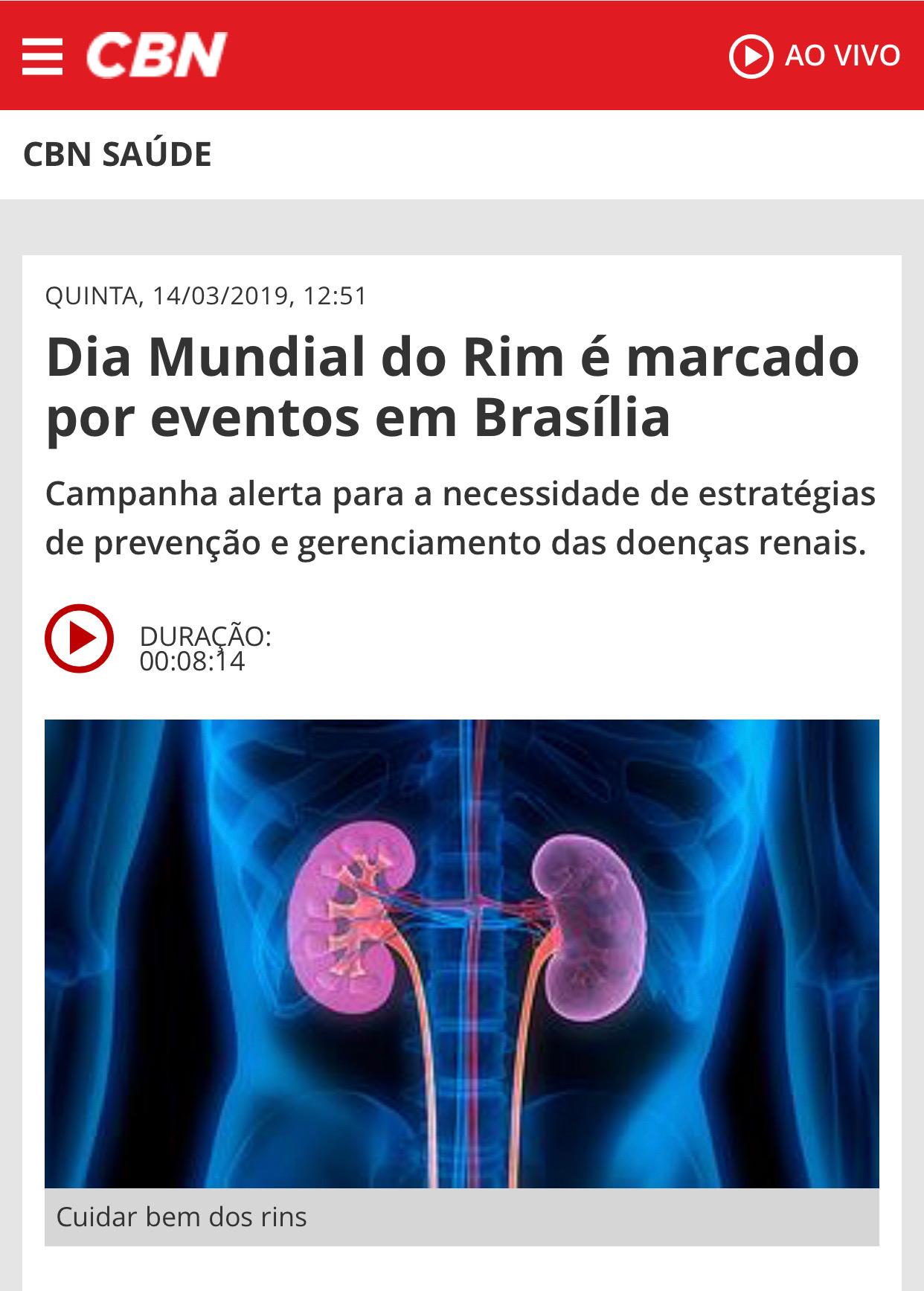 Rádio CBN Brasília - Dra. Maria Letícia CDRB - 14-03-2019