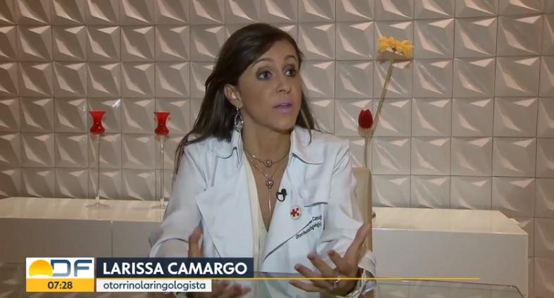 TV Globo - Dra. Larissa Camargo HSLS - 26-03-2019